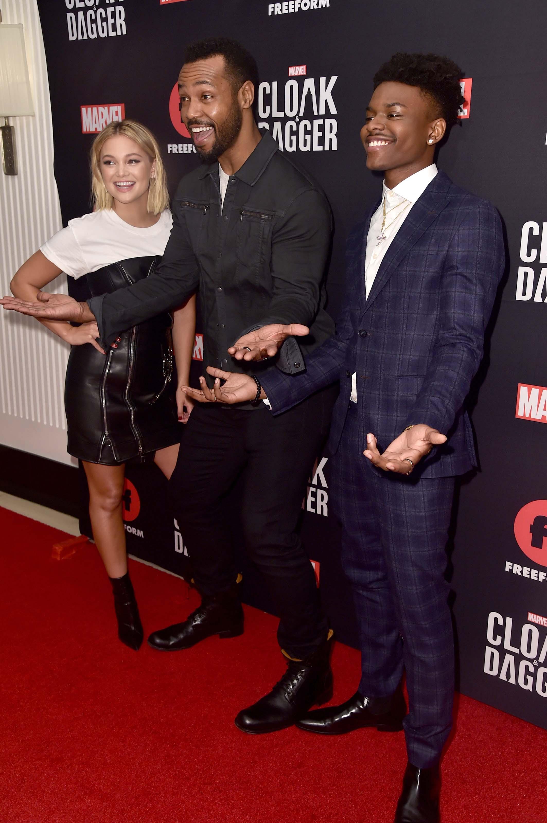 Olivia Holt attends Cloak & Dagger screening