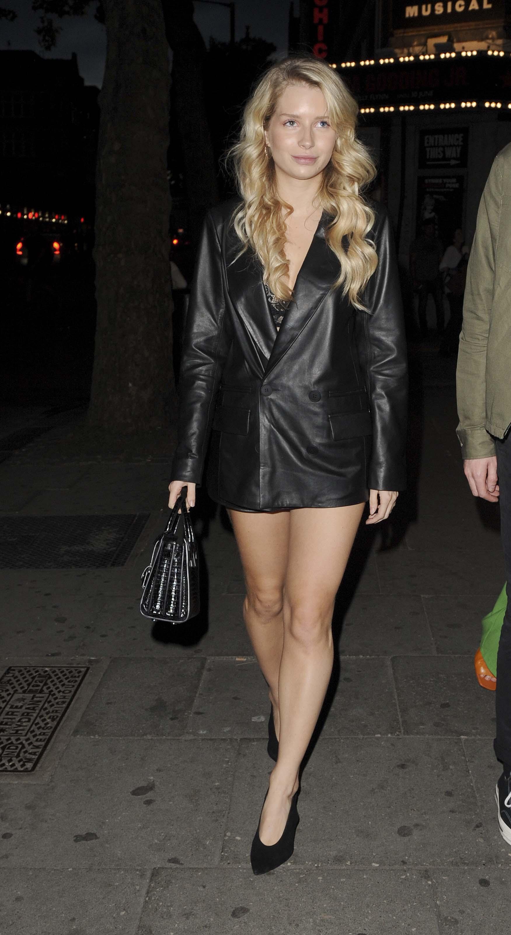 Lottie Moss out in London