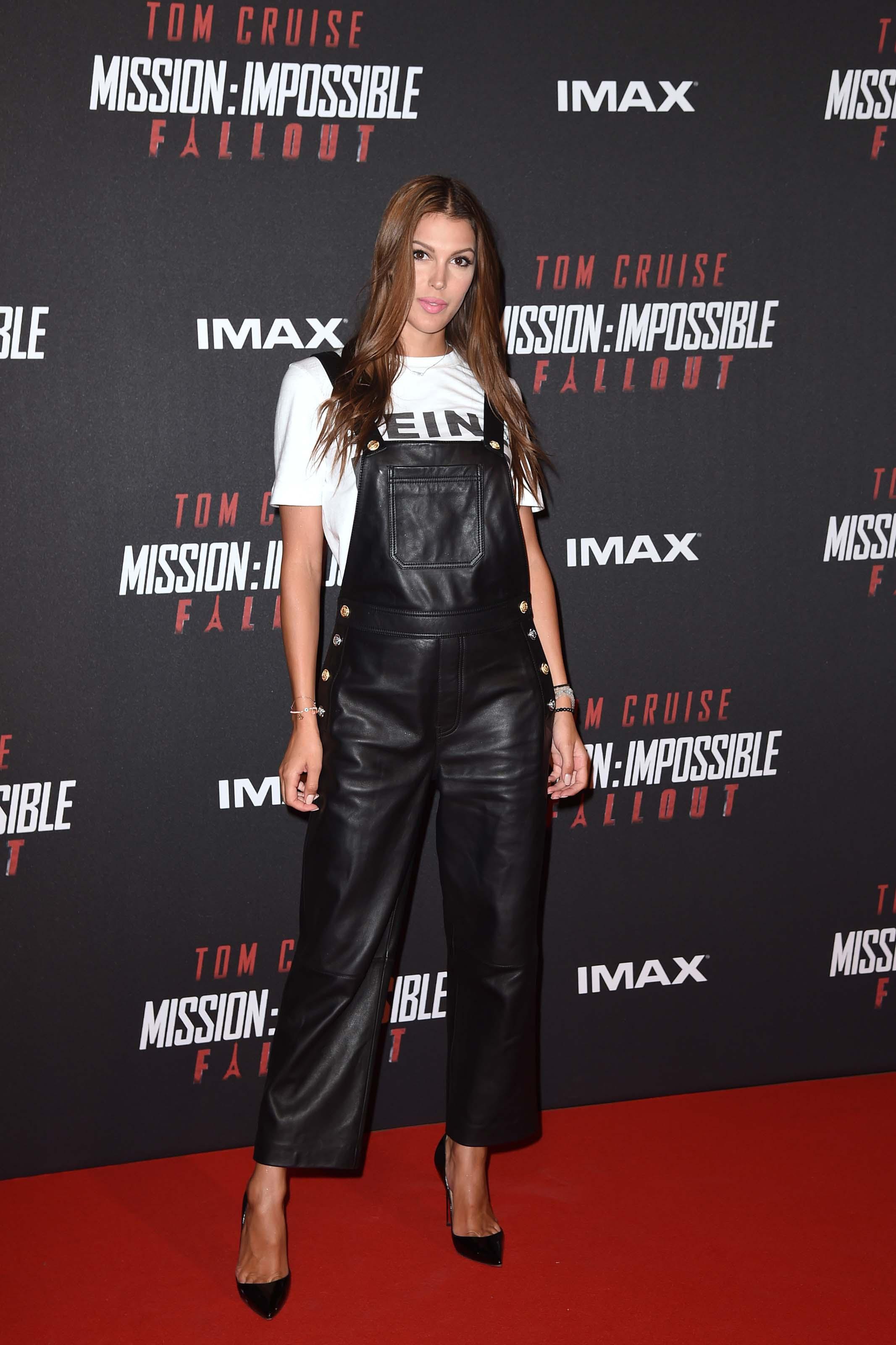 Iris Mittenaere attends Mission Impossible Fallout Premiere