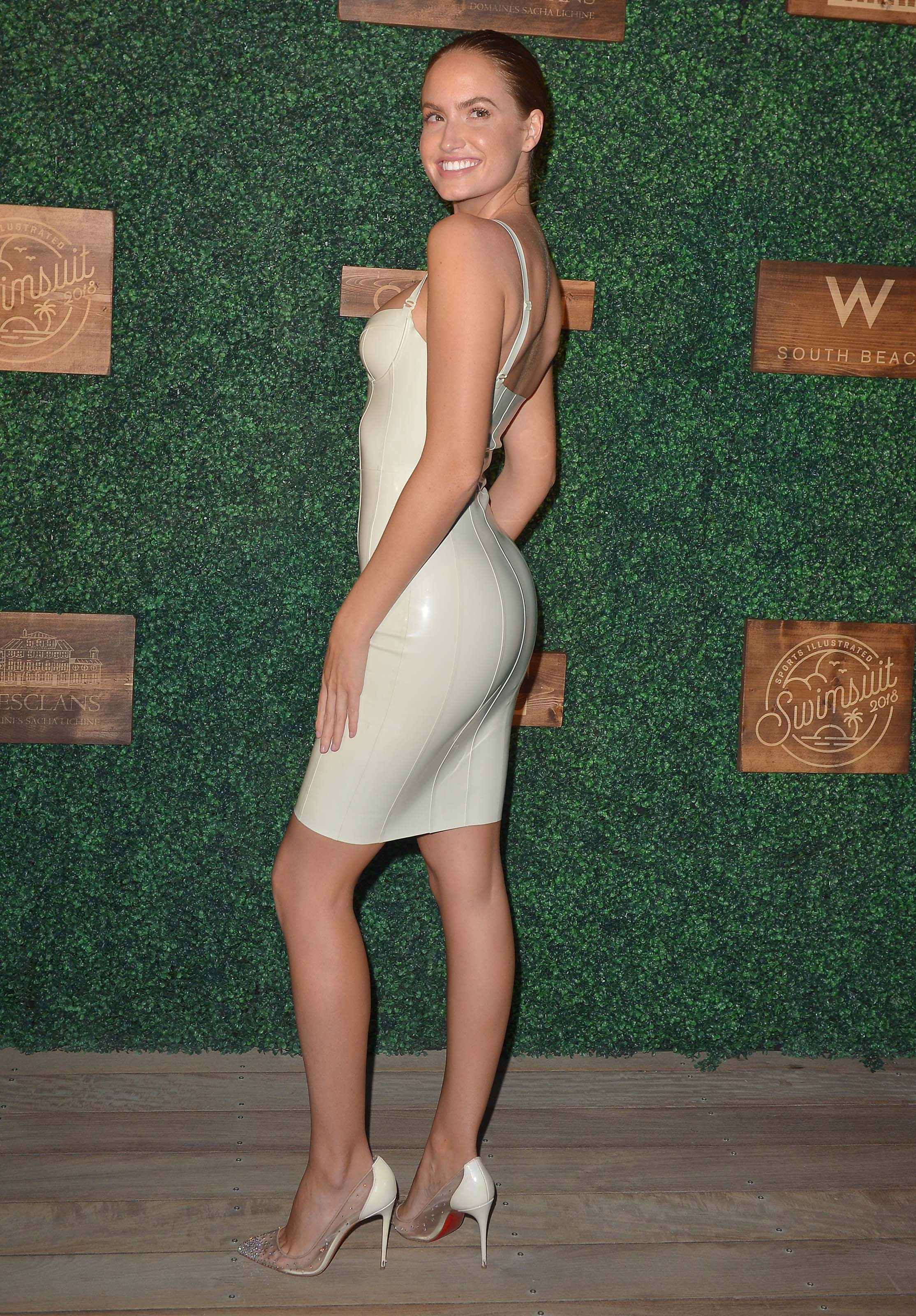 Hayley Kalil attends Sports Illustrated Swimsuit show