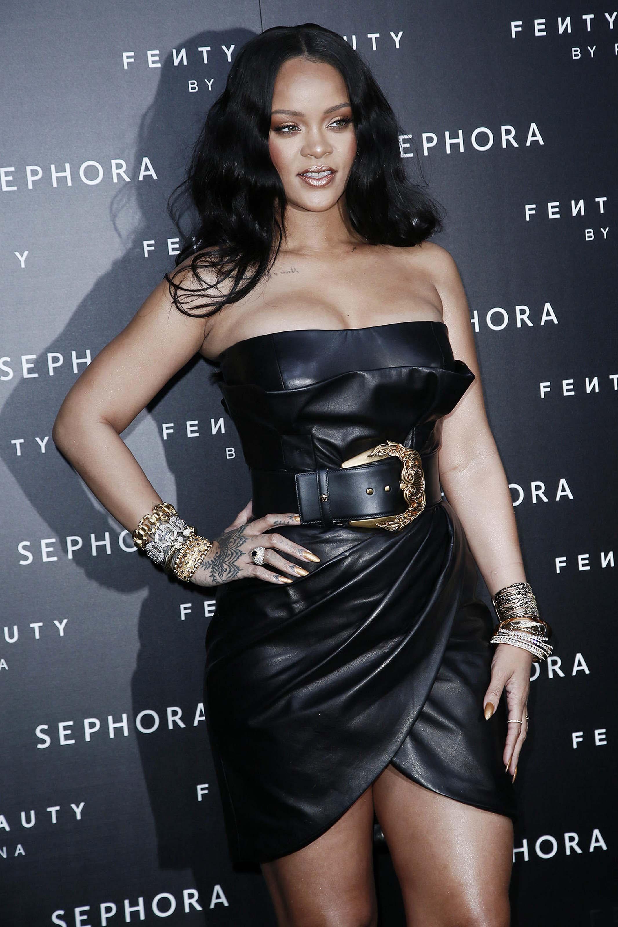 Rihanna attends Fenty by Rihanna makeup launch