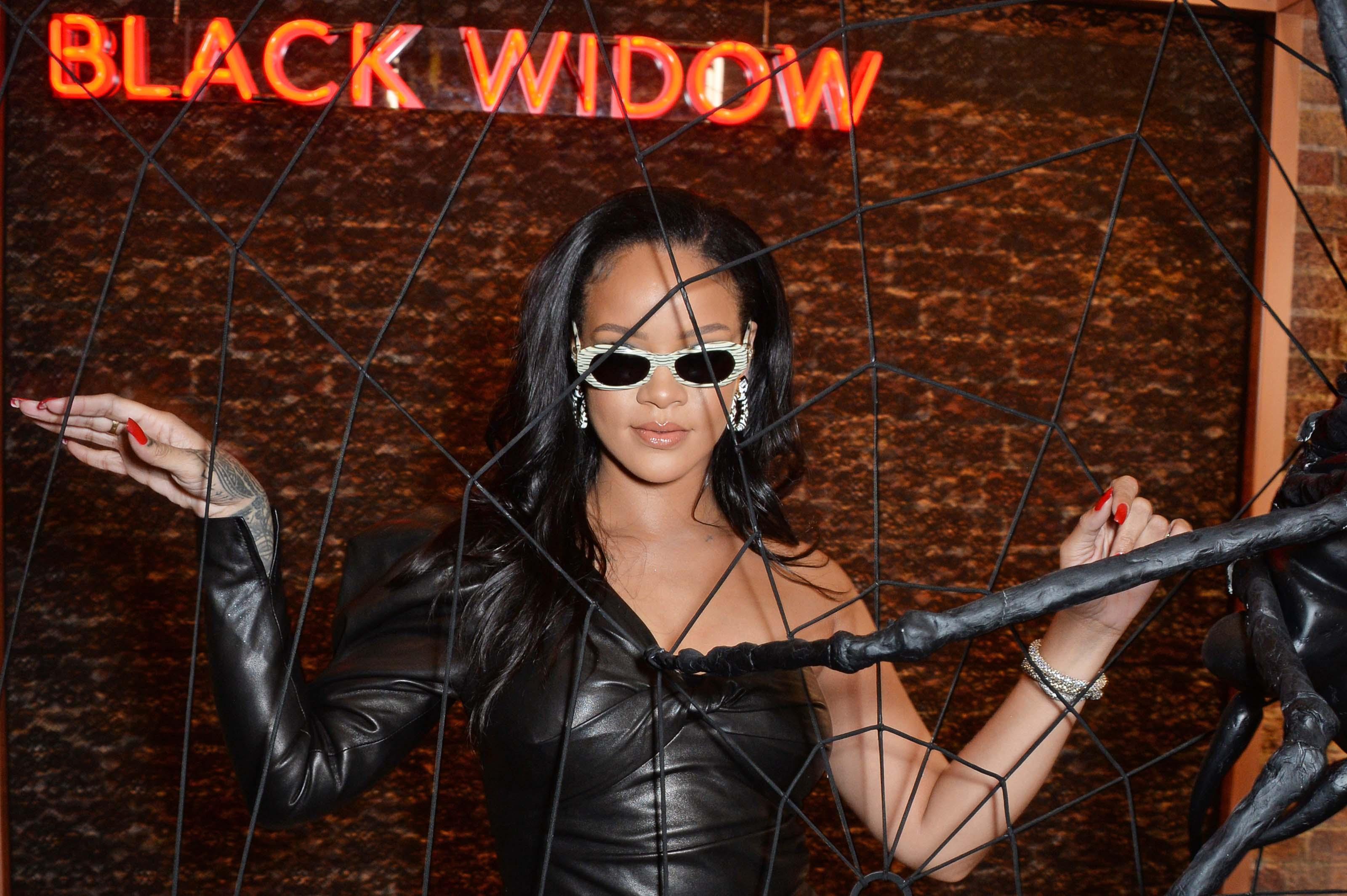 Rihanna attends Savage X Fenty pop-up shop launch