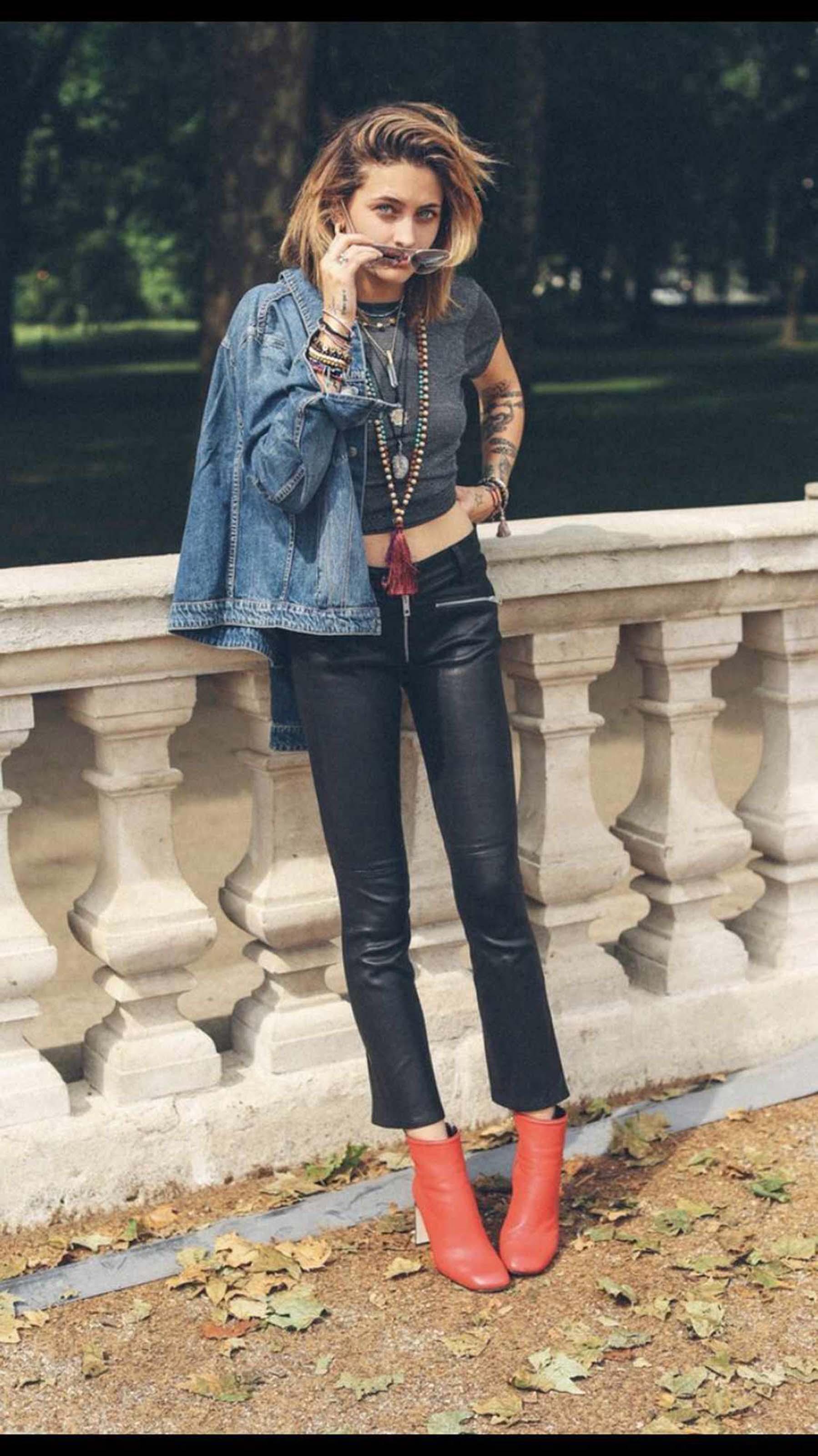 Paris Jackson photoshooting for Rag & Bone