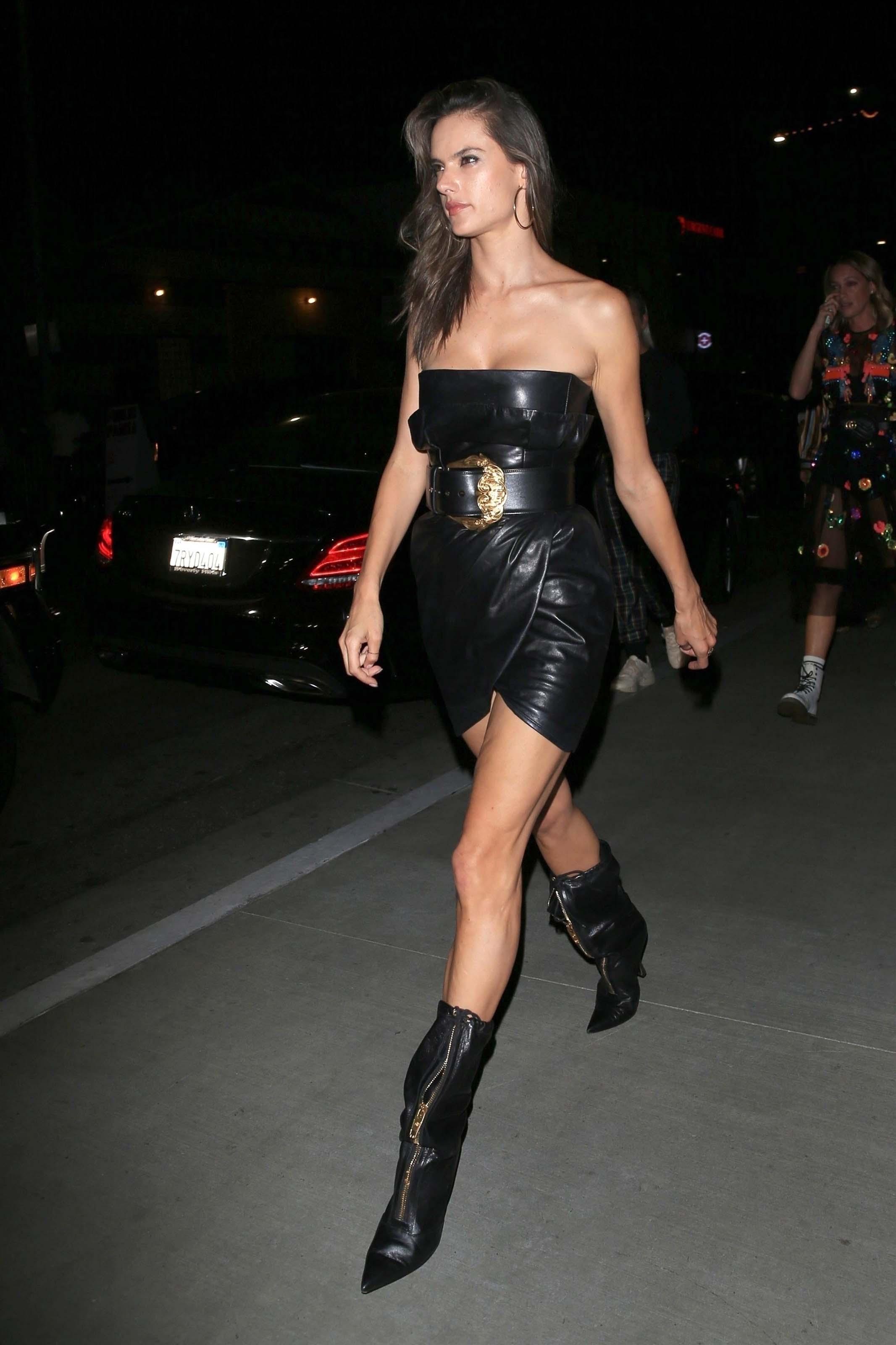 Alessandra Ambrosio leaving TAO