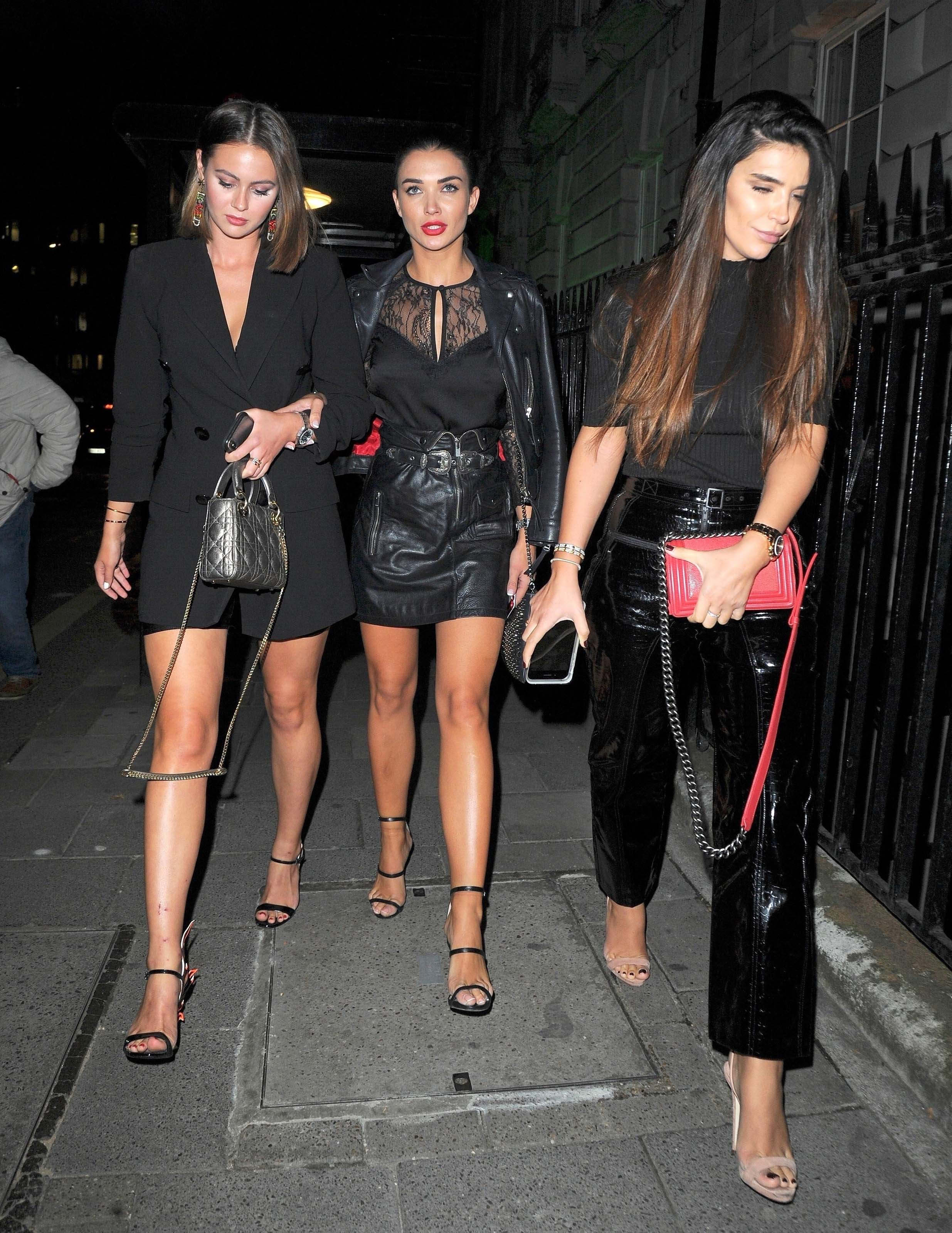 Amy Jackson seen at Annabel's Private Members Club