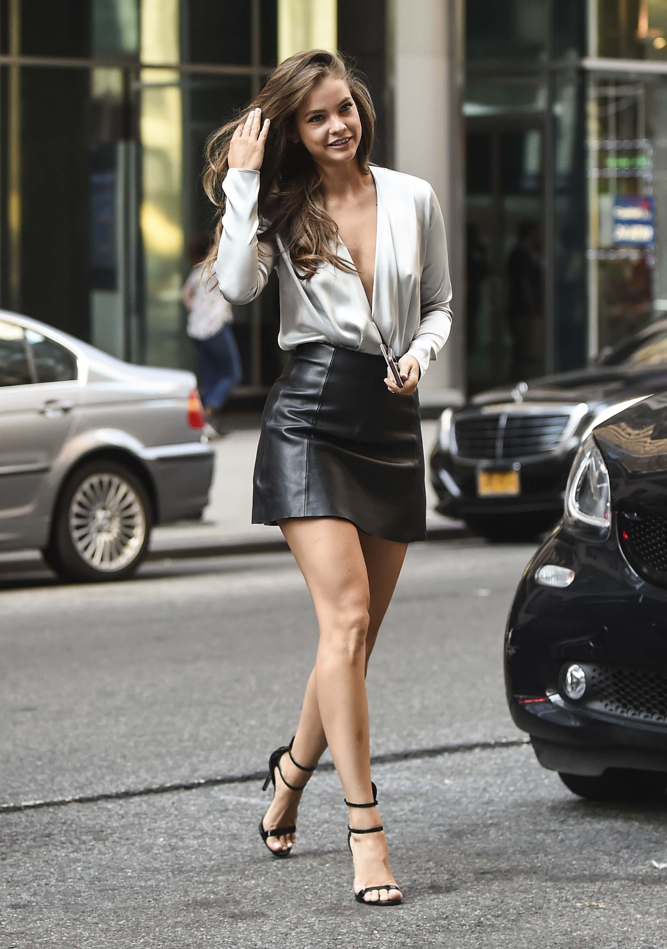 Barbara Palvin at Victoria's Secret headquarters