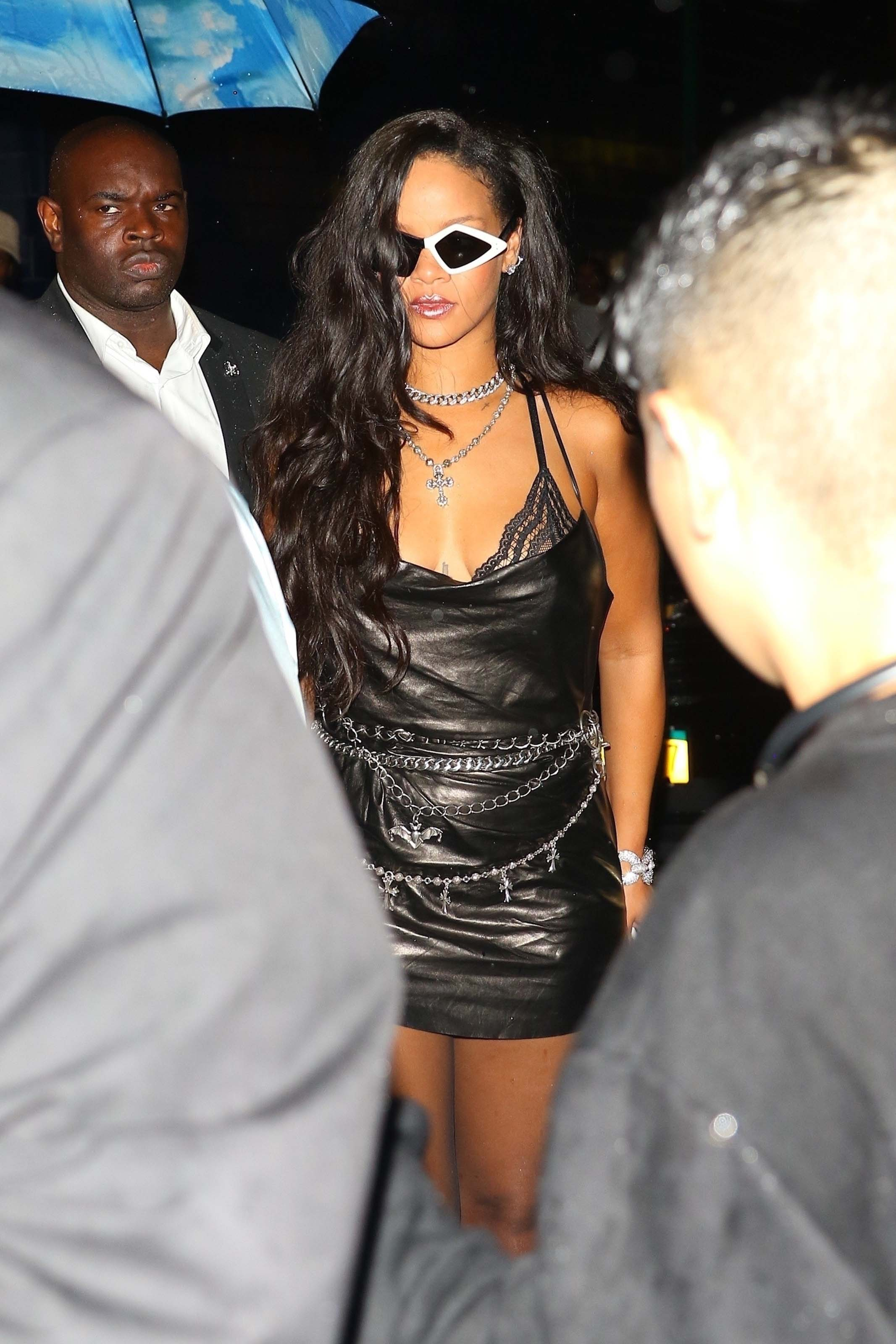Rihanna attends Savage x Fenty Lingerie fashion show