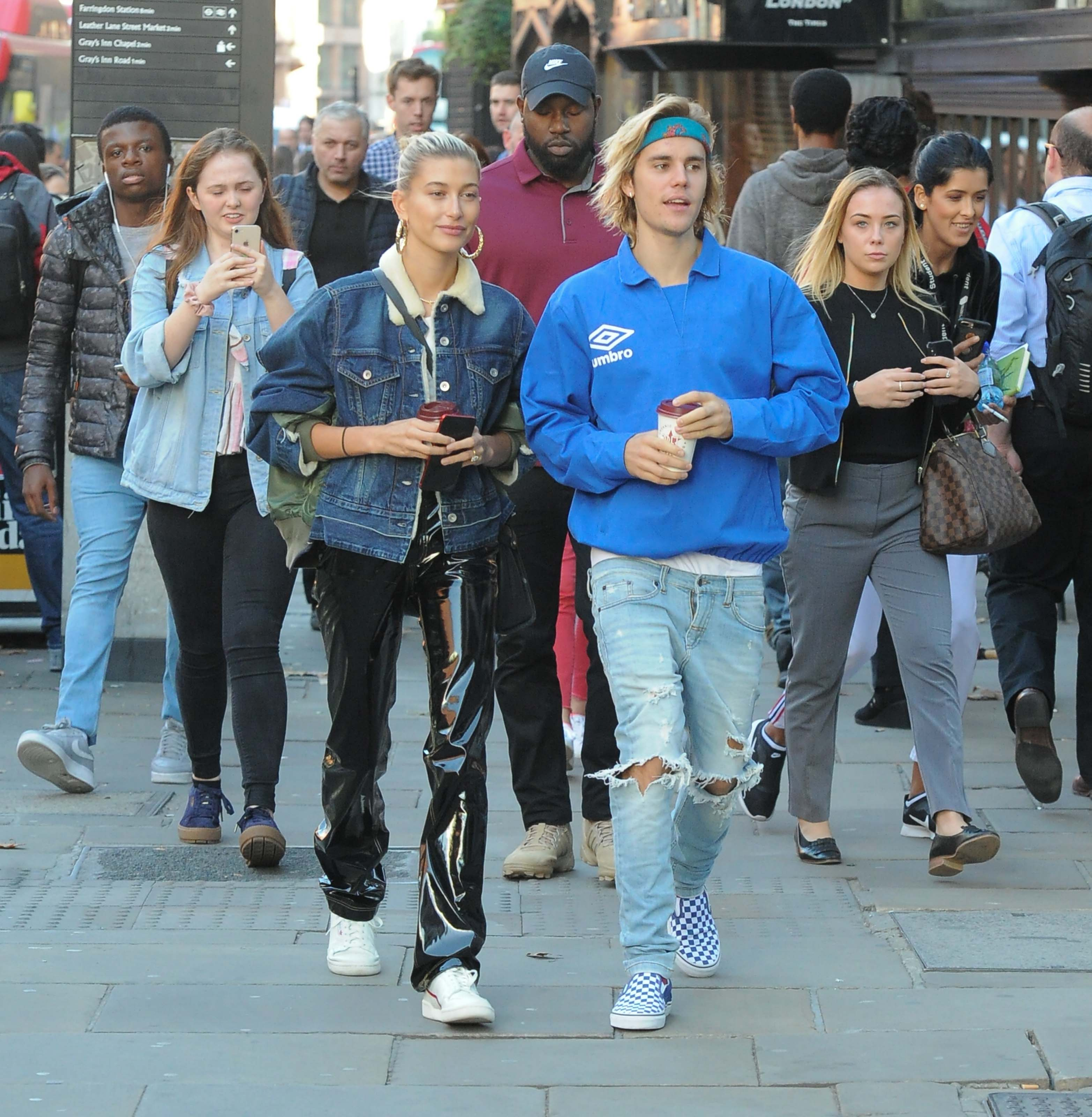Hailey Baldwin and Justin Bieber out and about