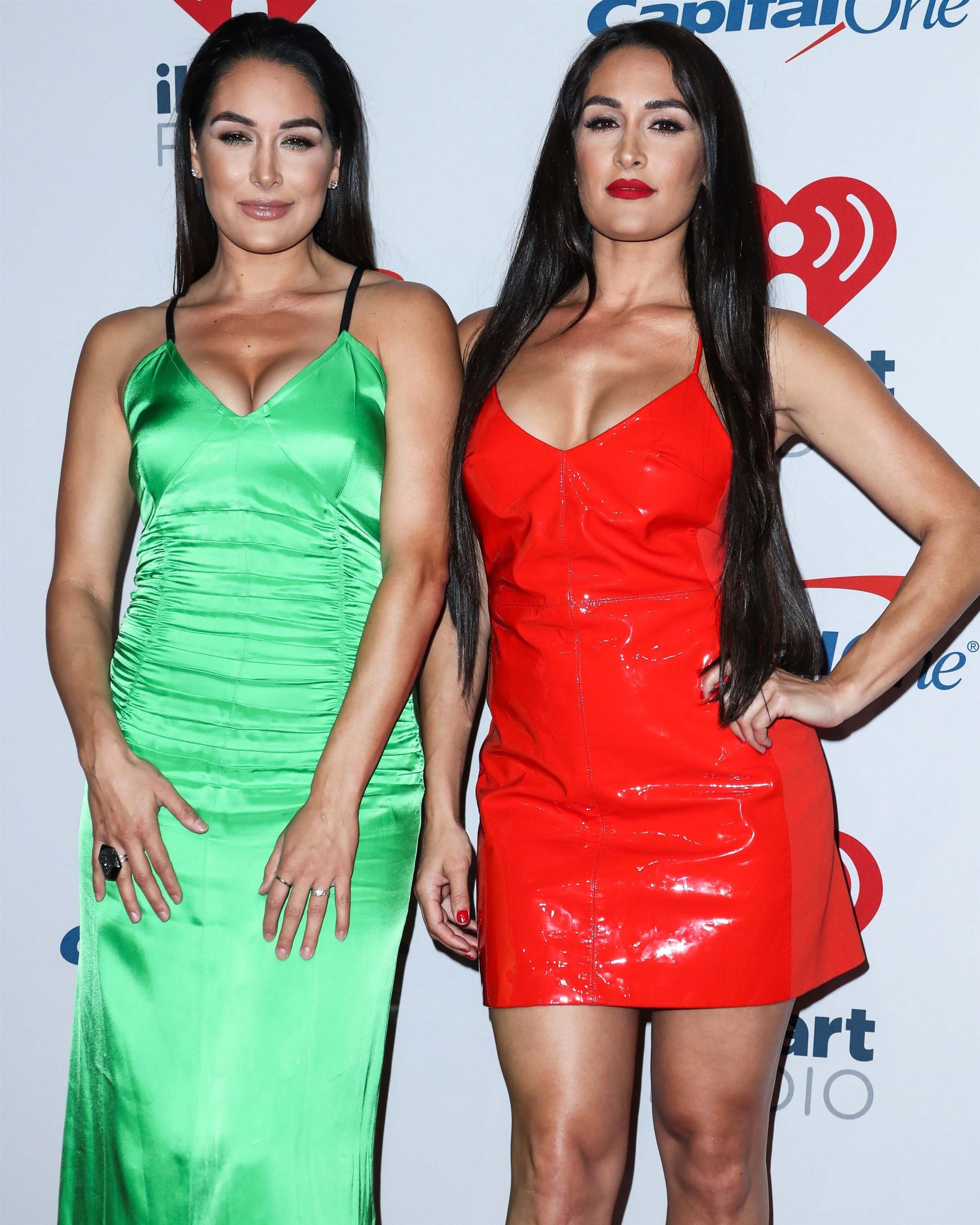 Nikki Bella & Brie Bella attend Day two of the 2018 iHeart Radio