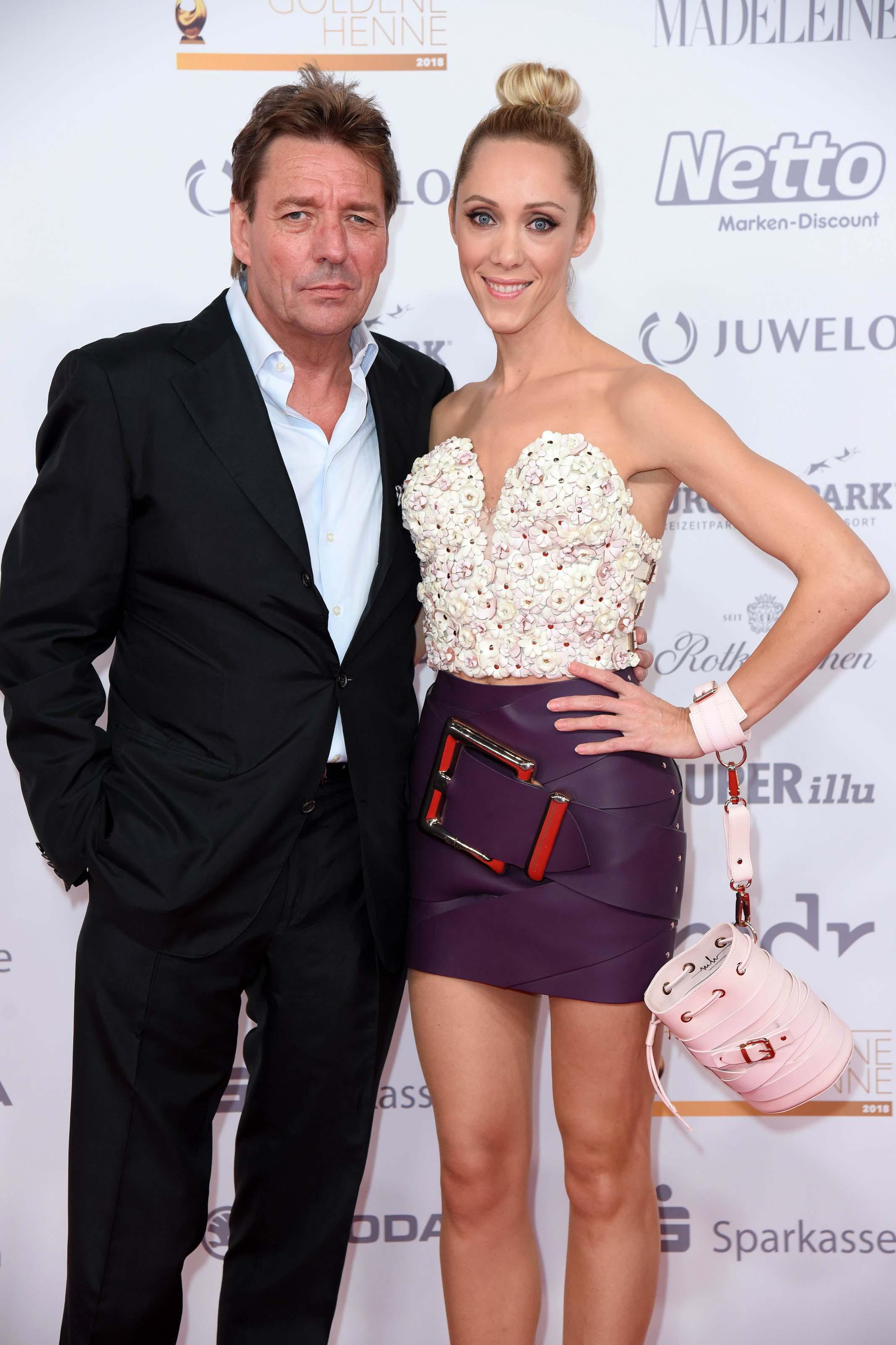 Kerstin Merlin & Melanie Wolf attend Goldenen Henne award show