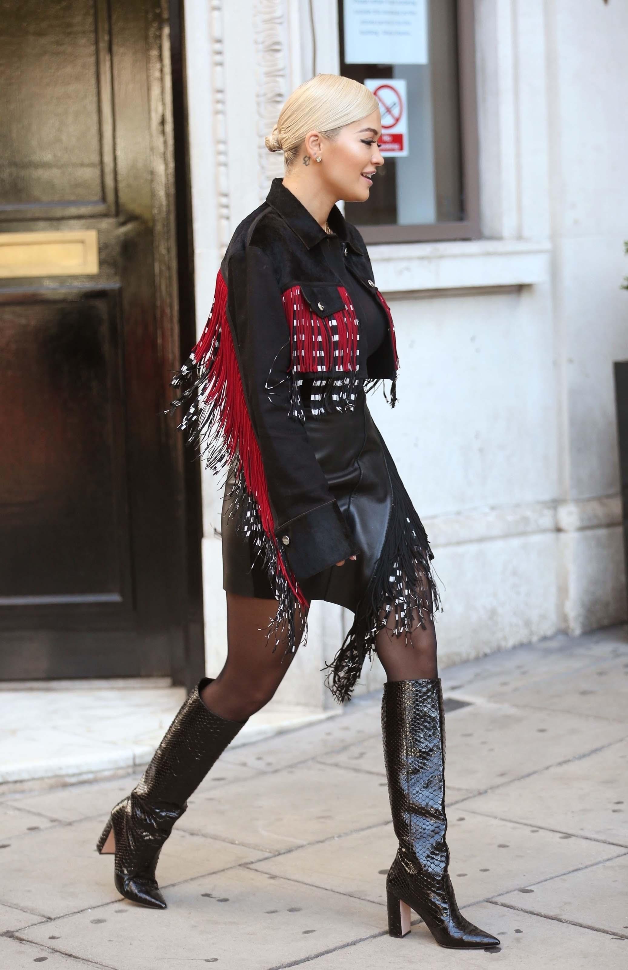 Rita Ora at a radio promo in London