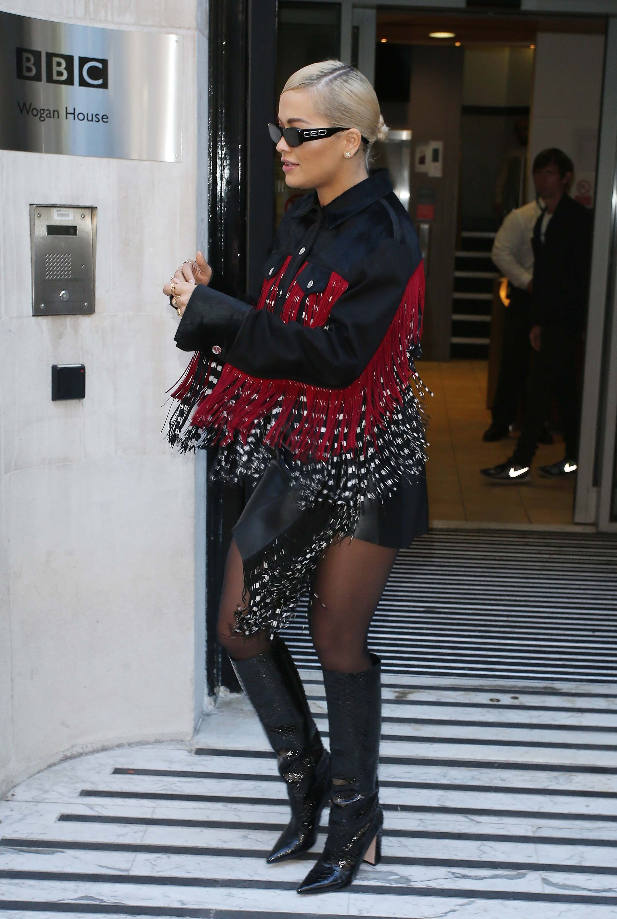 Rita Ora at a radio promo in London