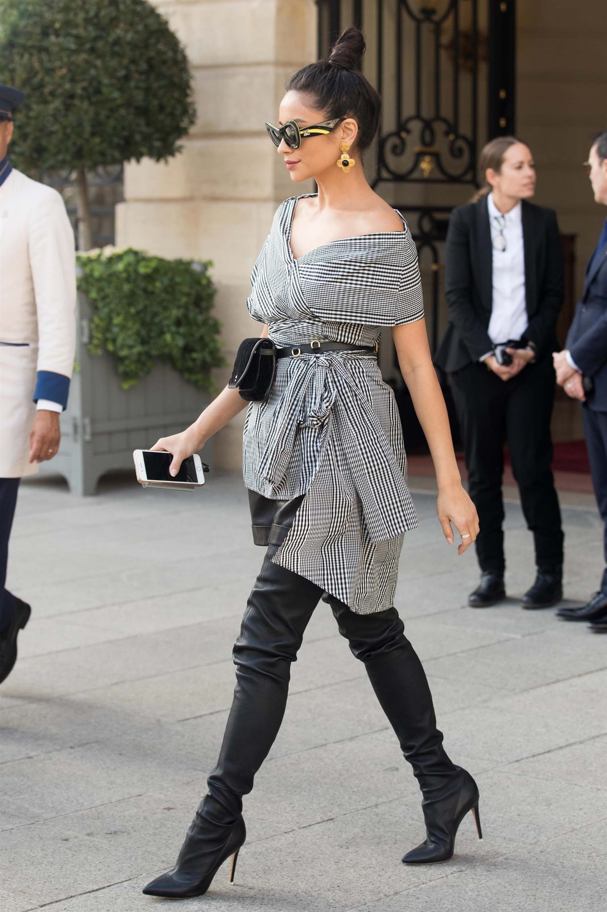 Shay Mitchell out and about in Paris