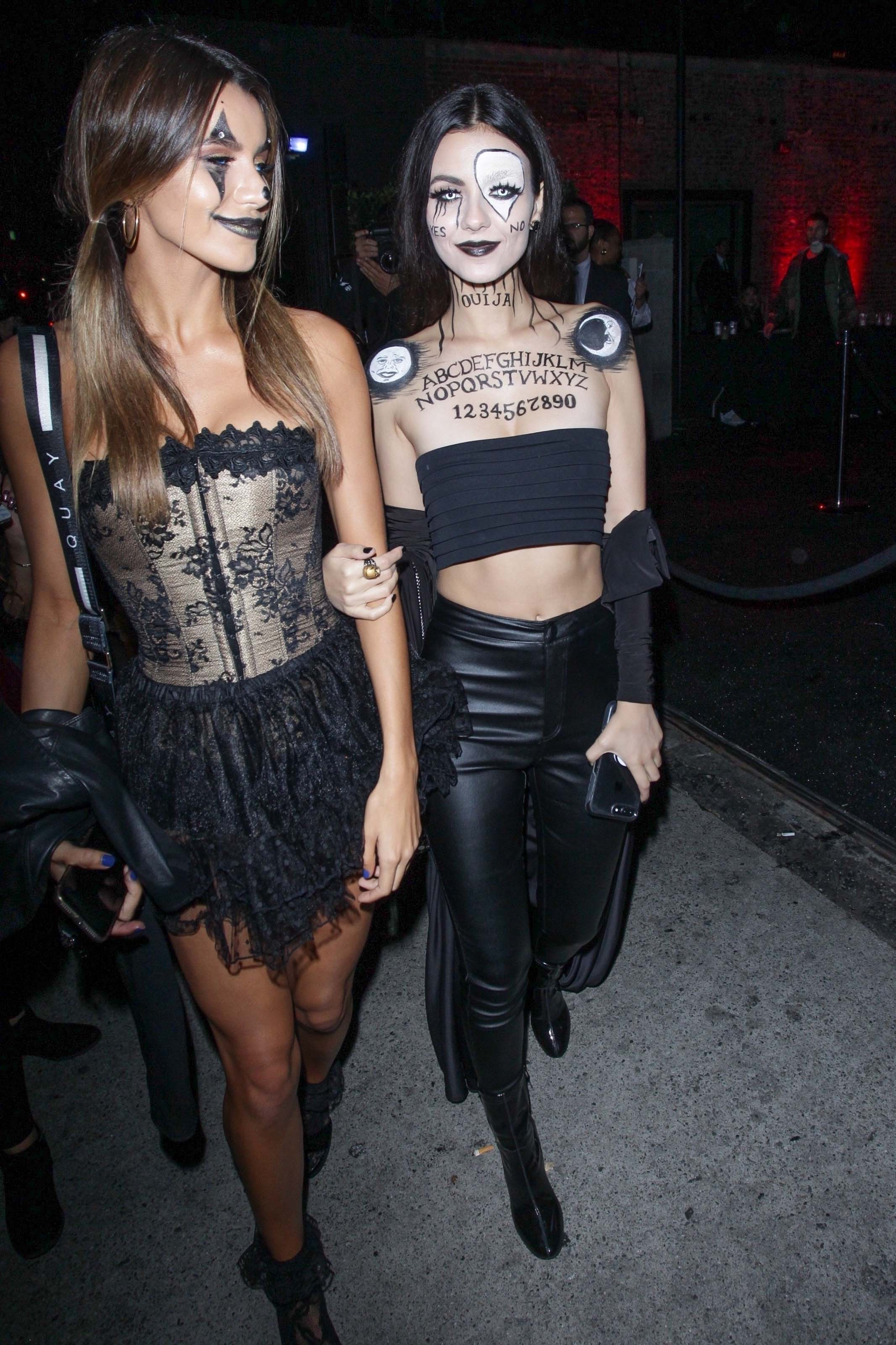 Victoria Justice attends the Just Jared Halloween Bash