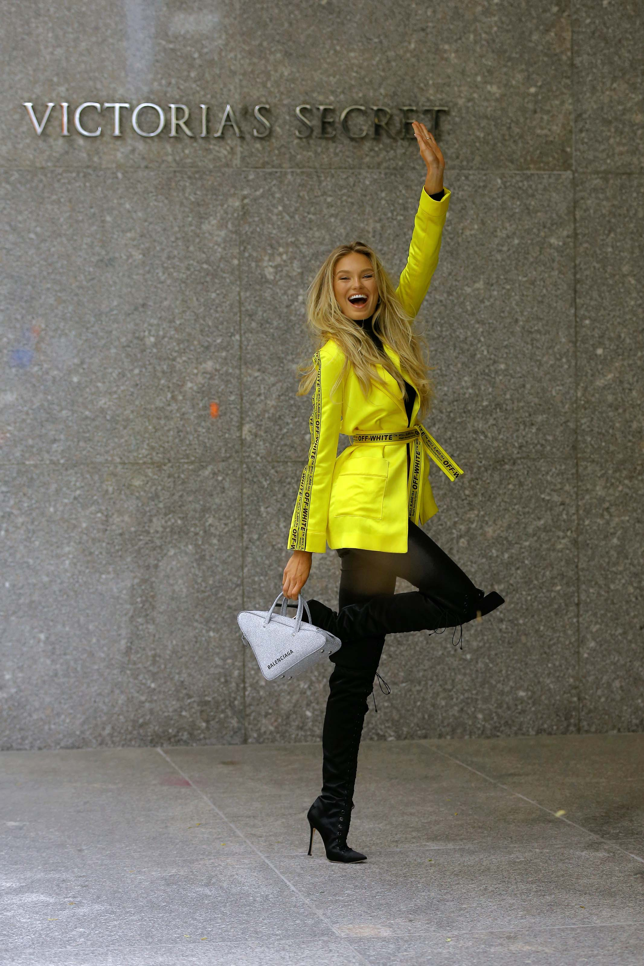 Romee Strijd attends A Fitting For The Victoria's Secret Fashion Show