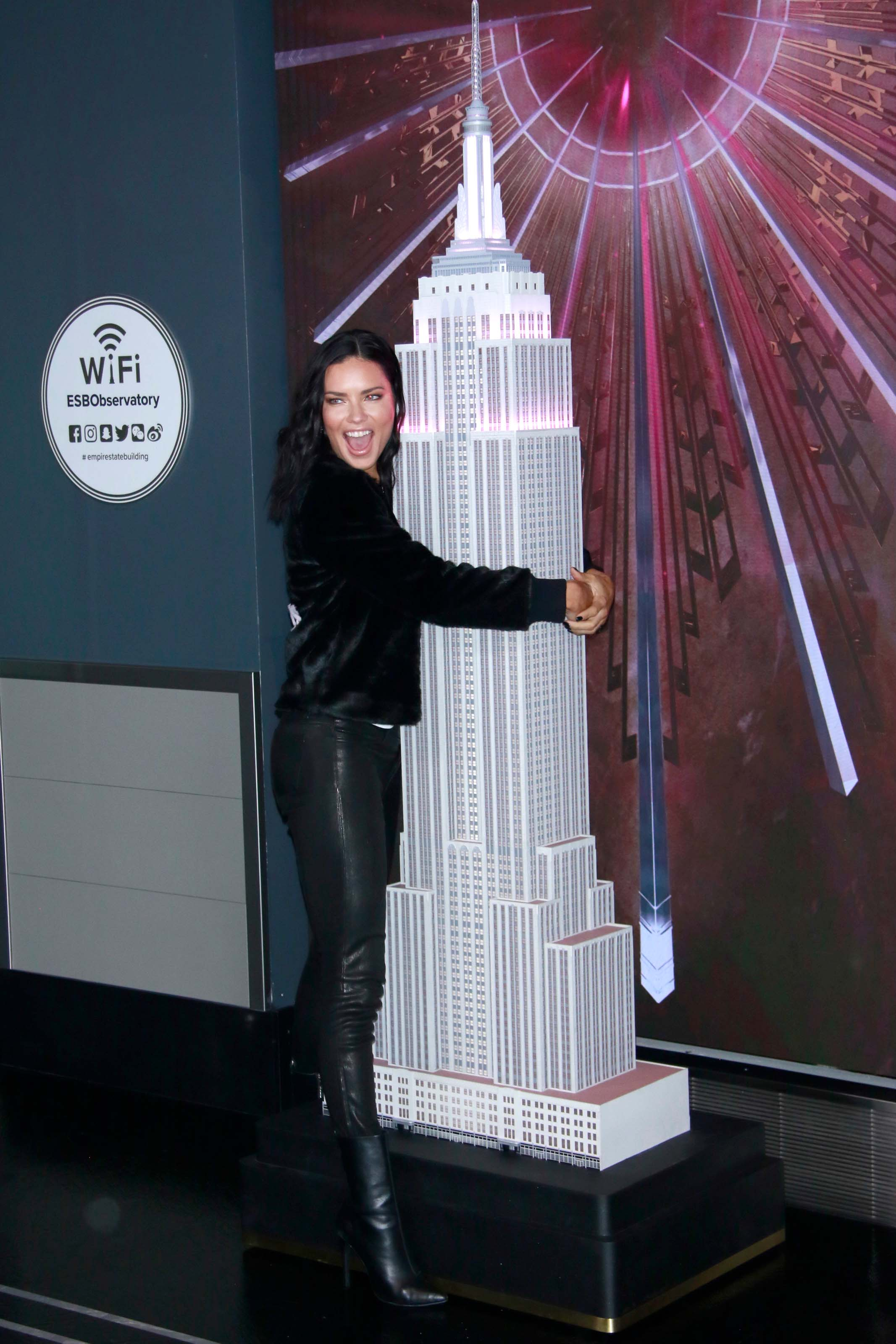 Adriana Lima lighting the Empire State Building