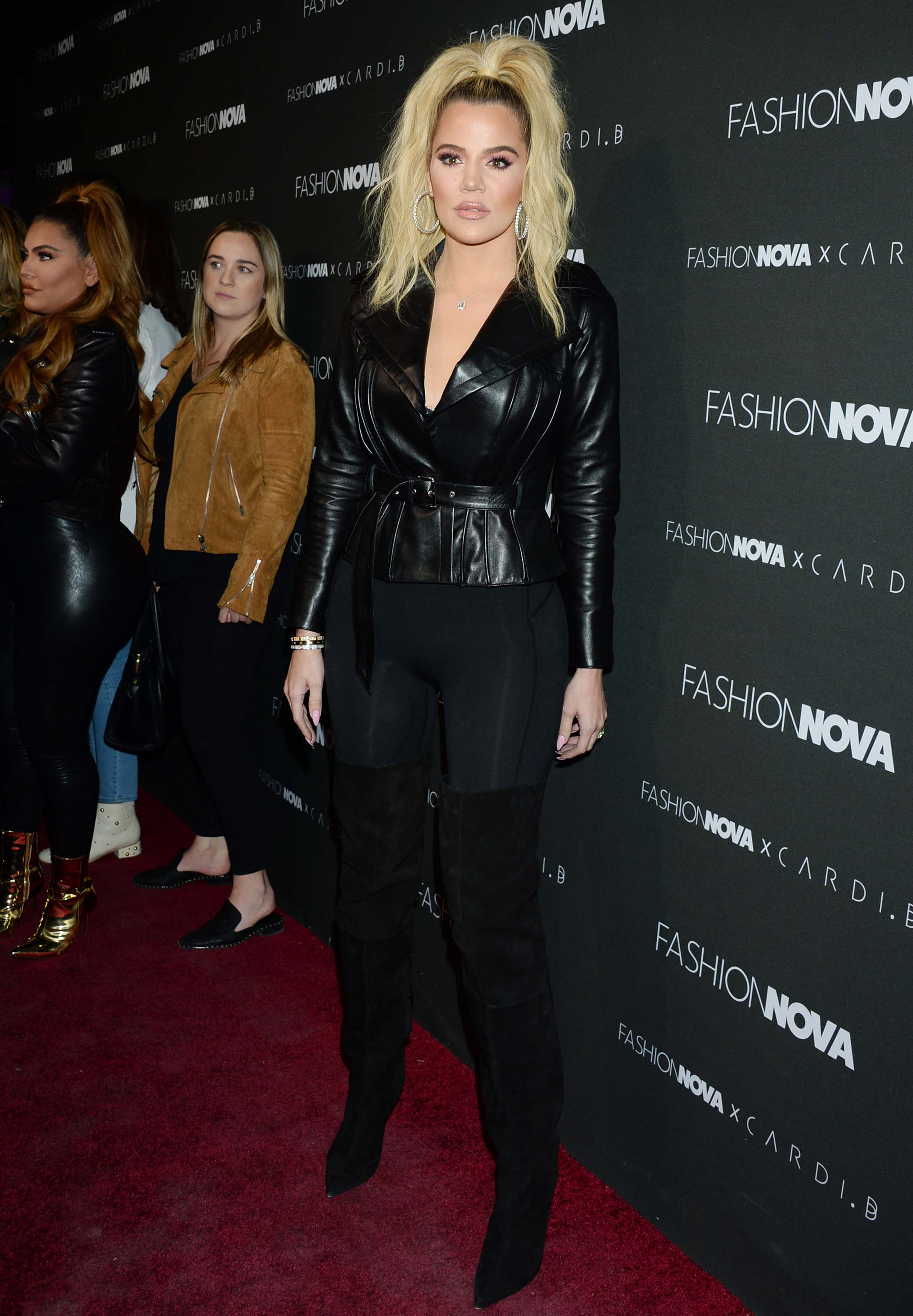 Khloe Kardashian & Hrush Achemyan attend Fashion Nova x Cardi B Launch Event