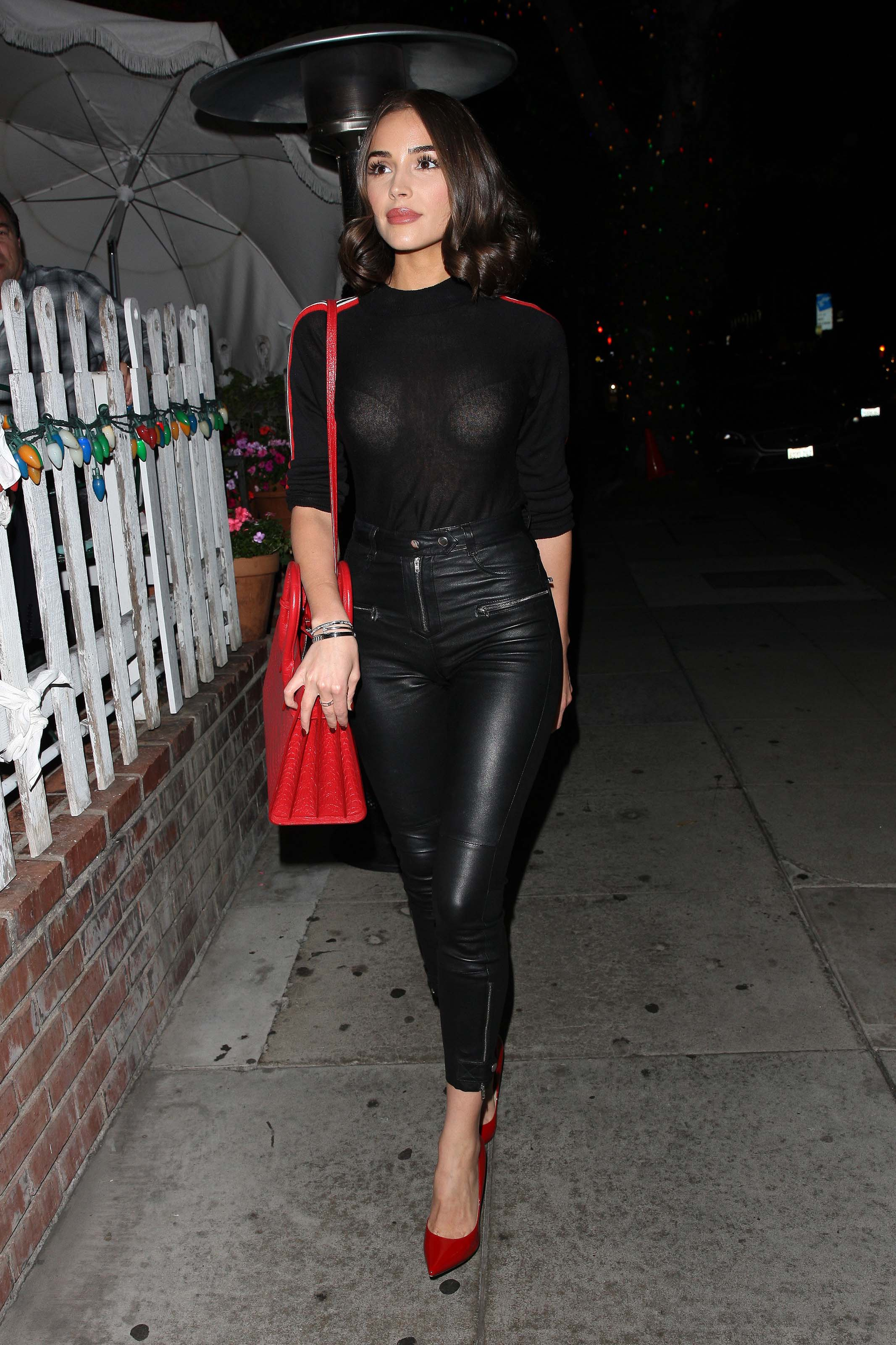 Olivia Culpo outside The Ivy Restaurant