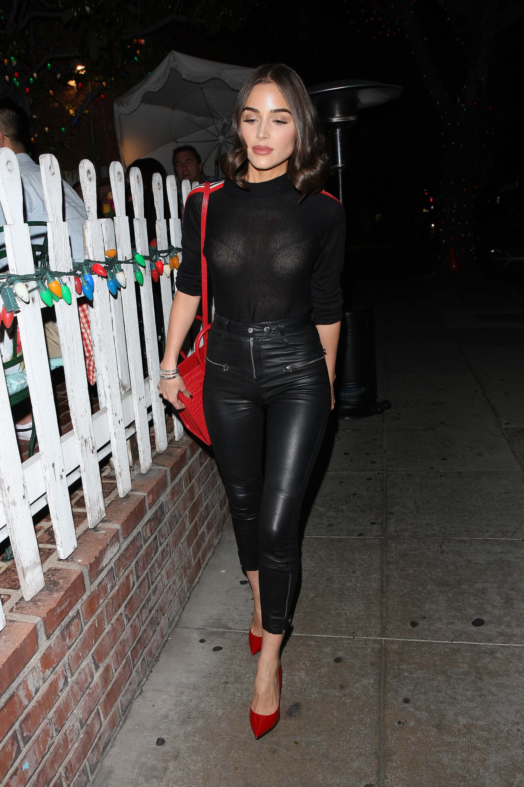 Olivia Culpo outside The Ivy Restaurant