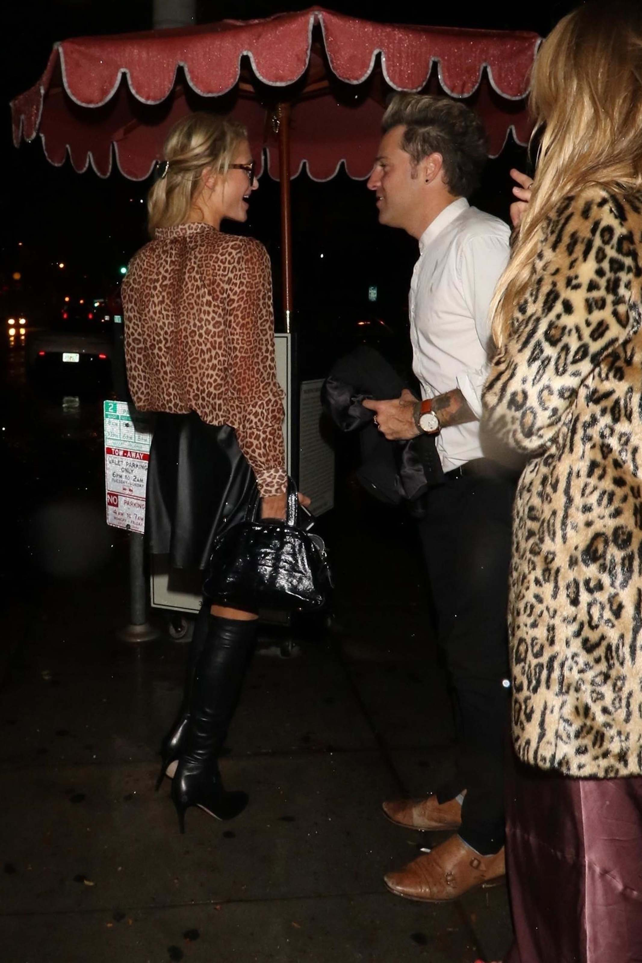 Paris Hilton leaving at Delilah Nightclub