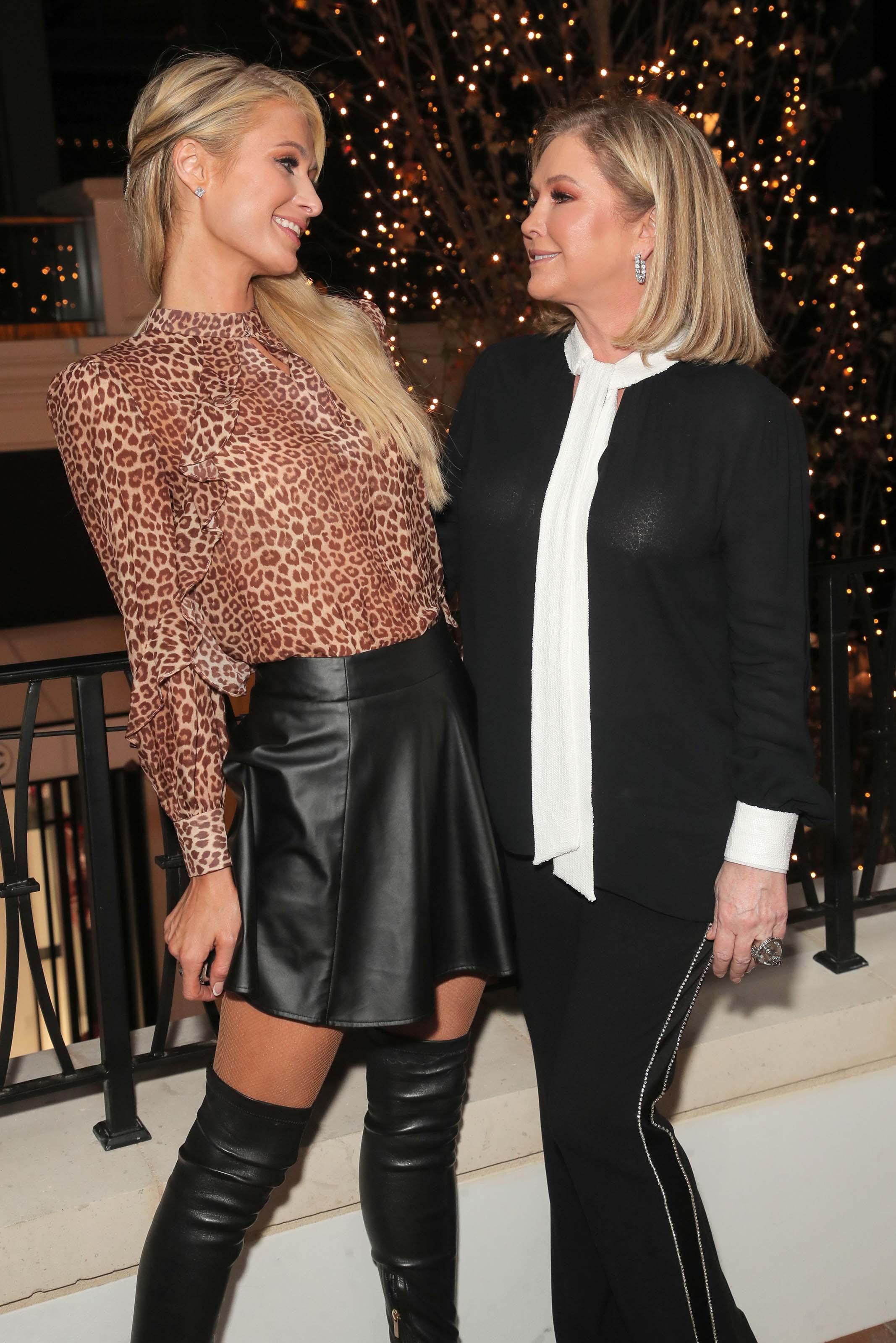 Paris Hilton attends Rachel Zoe Palisades Village Holiday Celebration