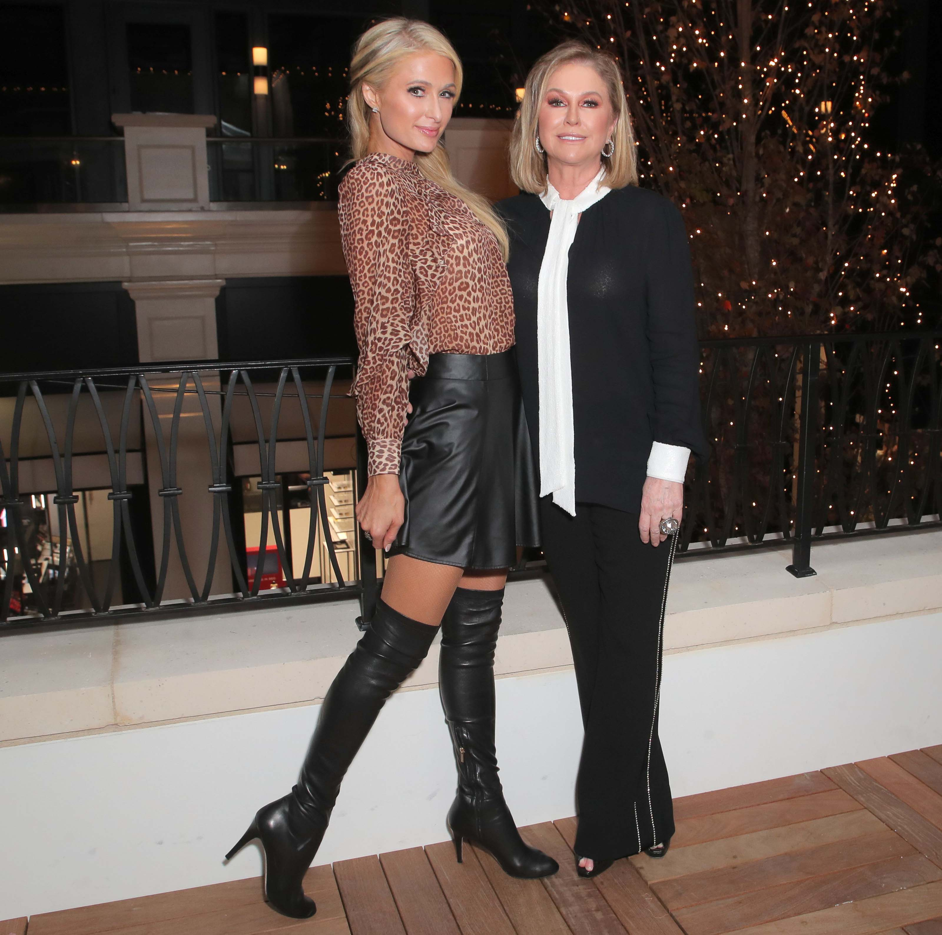 Paris Hilton attends Rachel Zoe Palisades Village Holiday Celebration