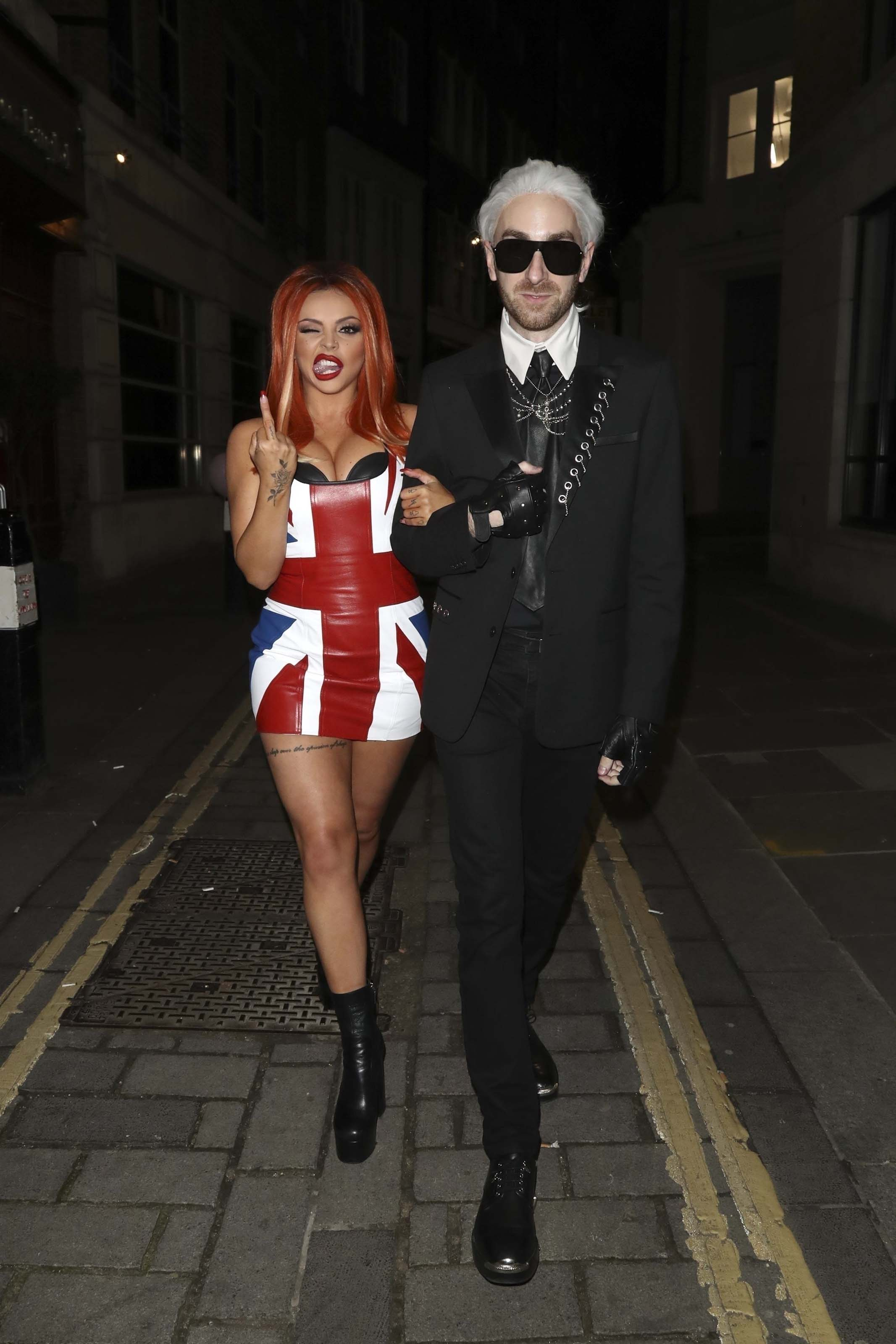 Jesy Nelson at Jade Thirlwall's birthday party