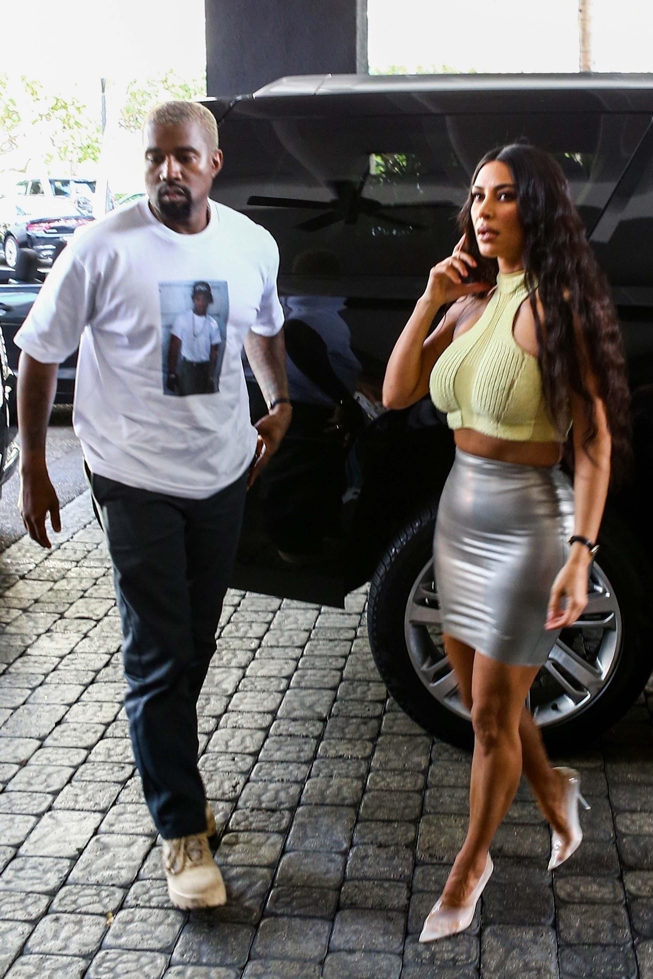 Kim Kardashian at the Faena House condo