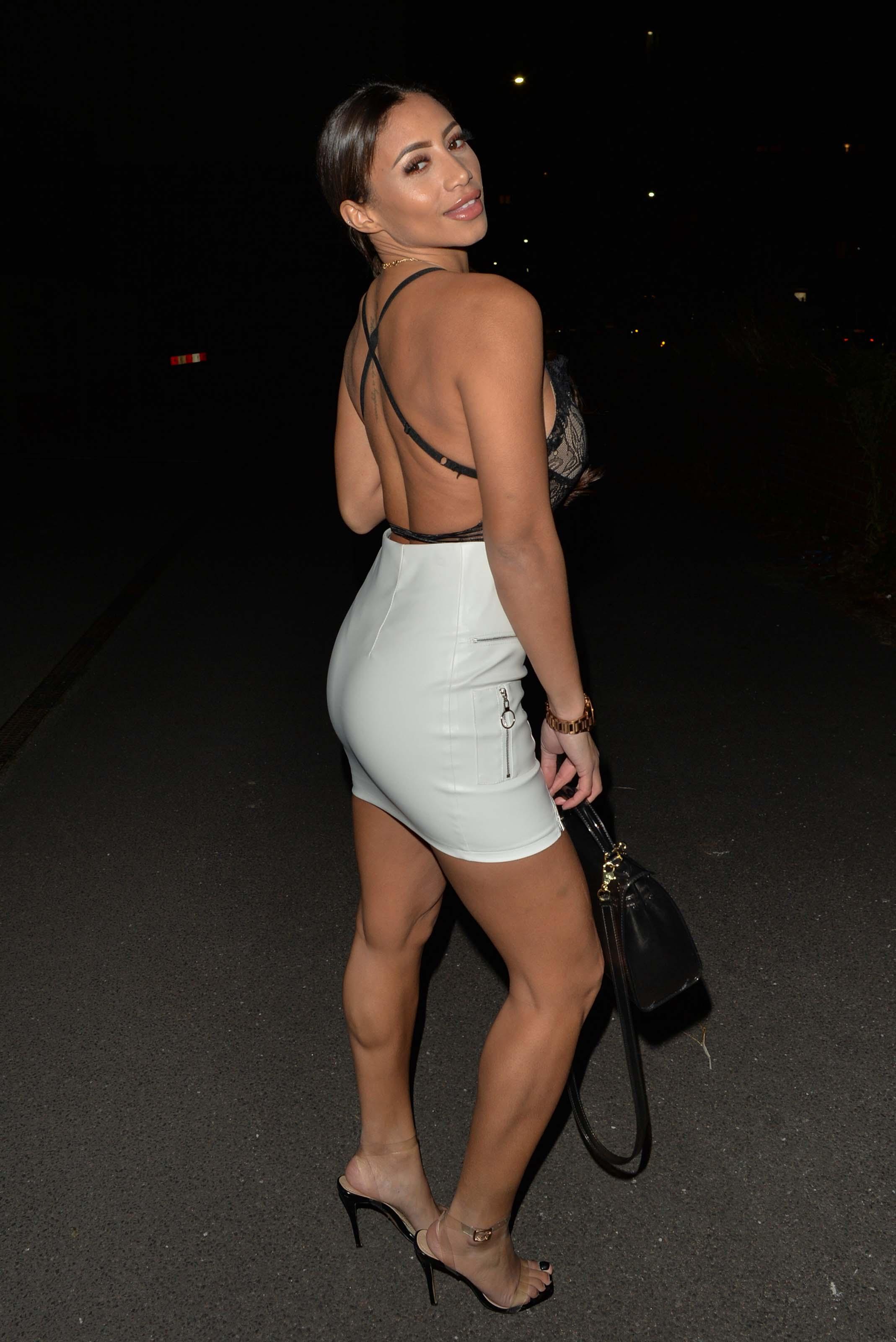 Kayleigh Morris seen arriving at Sketch Mayfair