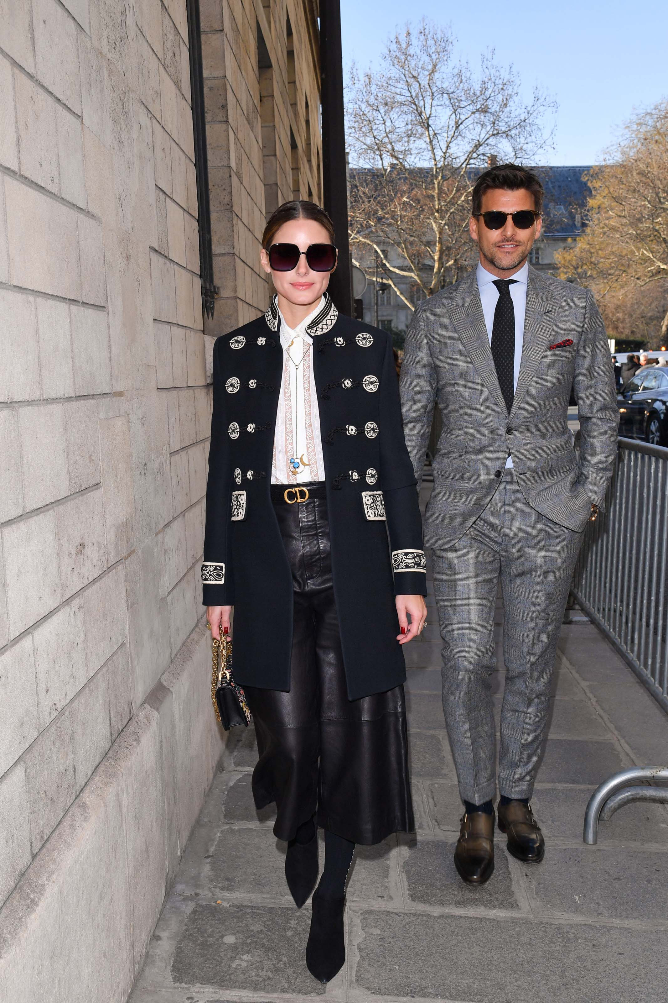 Olivia Palermo attends Christian Dior Show Haute Couture Spring/ Summer