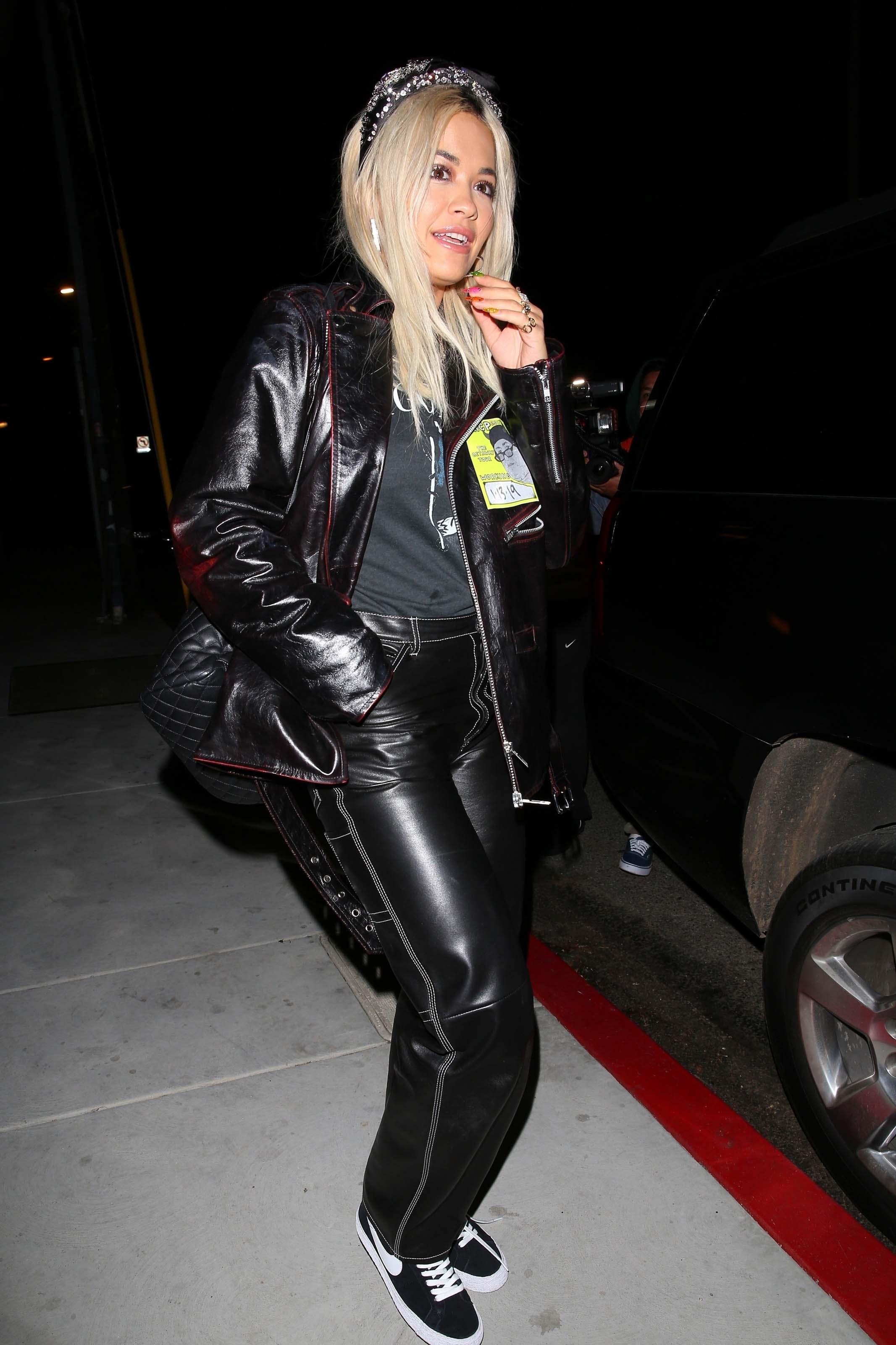 Rita Ora leaving Chateau Hanare