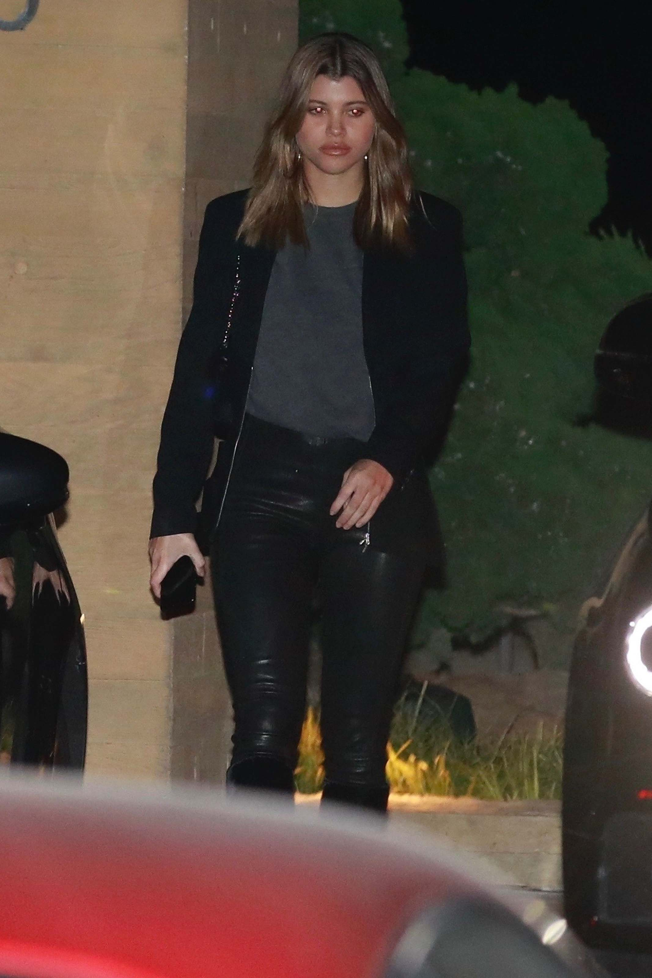 Sofia Richie leaving dinner