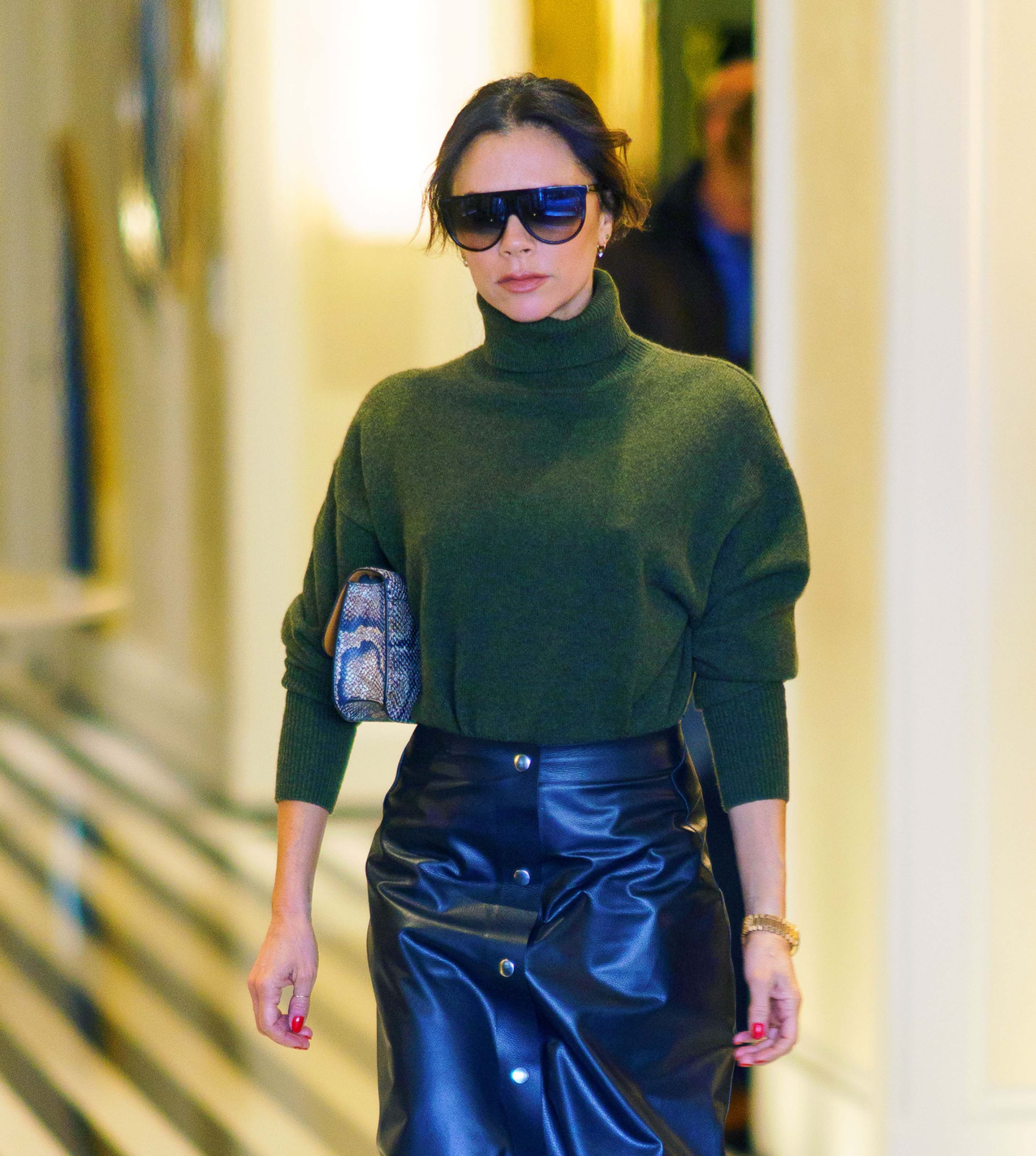 Victoria Beckham goes shopping with her son Brooklyn after lunch