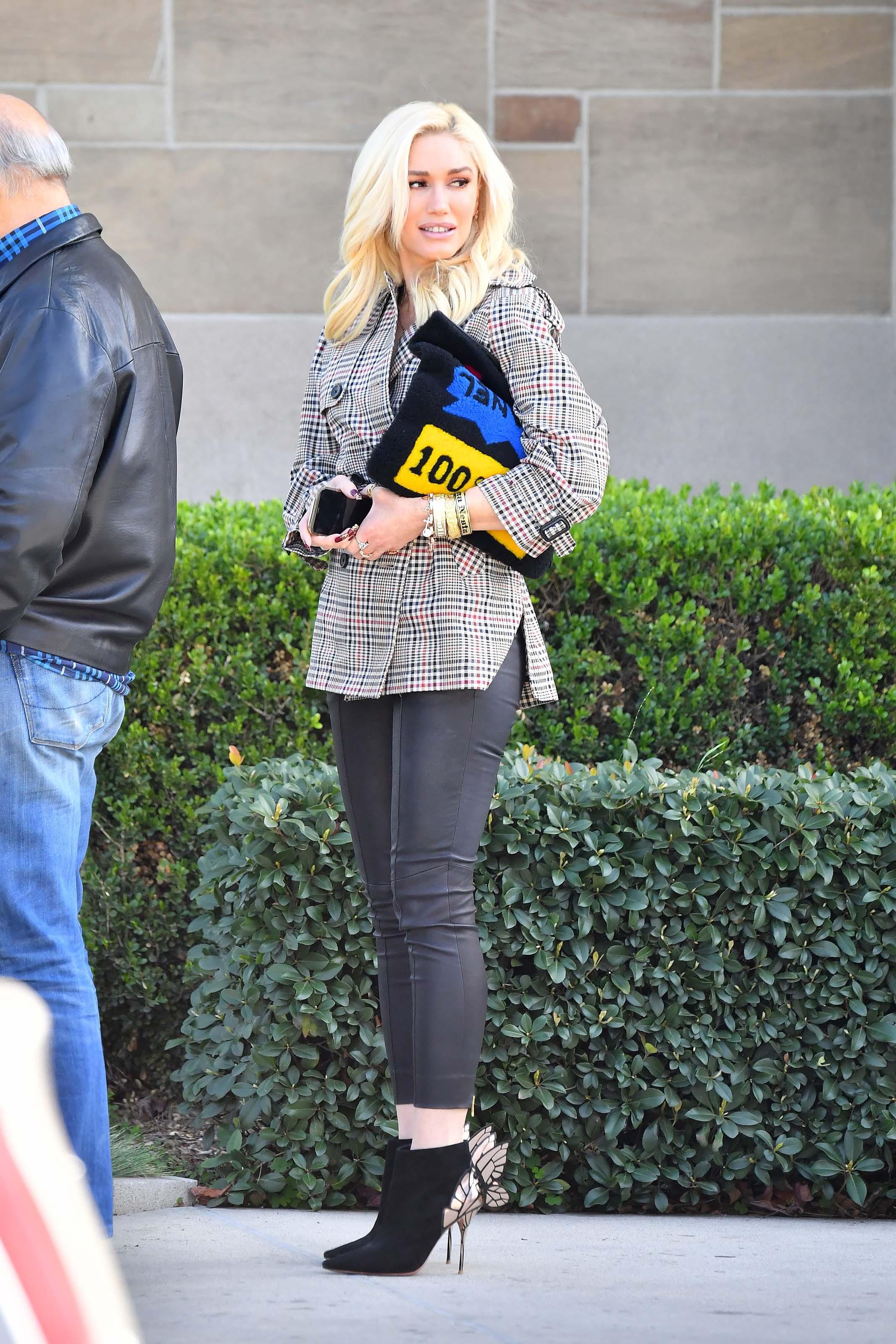 Gwen Stefani heads to church