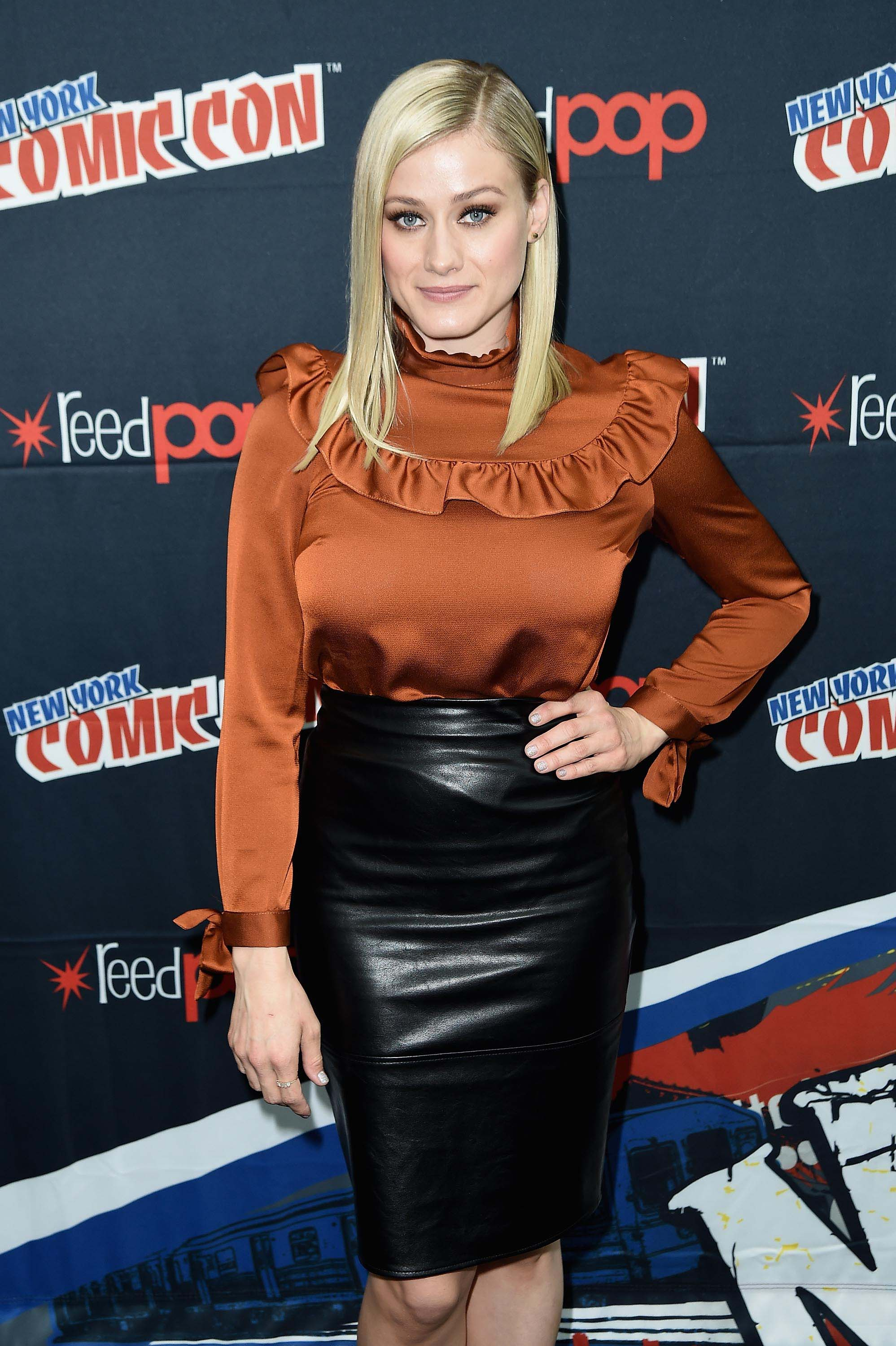 Olivia Taylor Dudley attends Syfy the Magicians panel