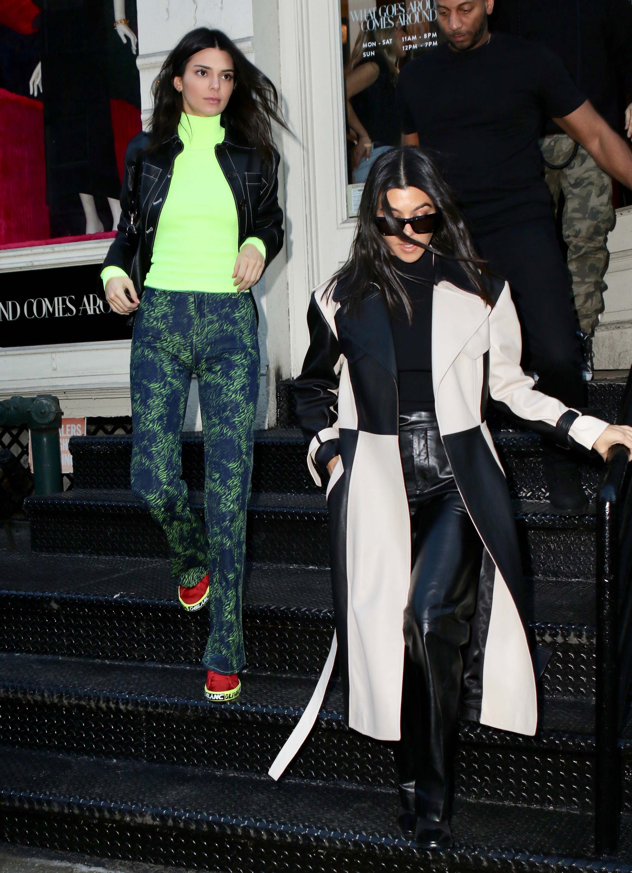 Kendall Jenner & Kourtney Kardashian spend the afternoon shopping