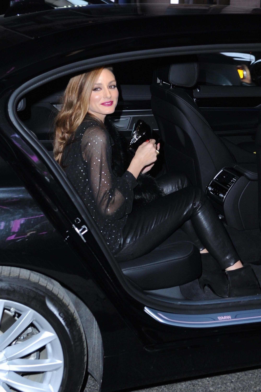 "Olivia Palermo leaves the ""Michael Kors x Bella Hadid Immersive Experience"""