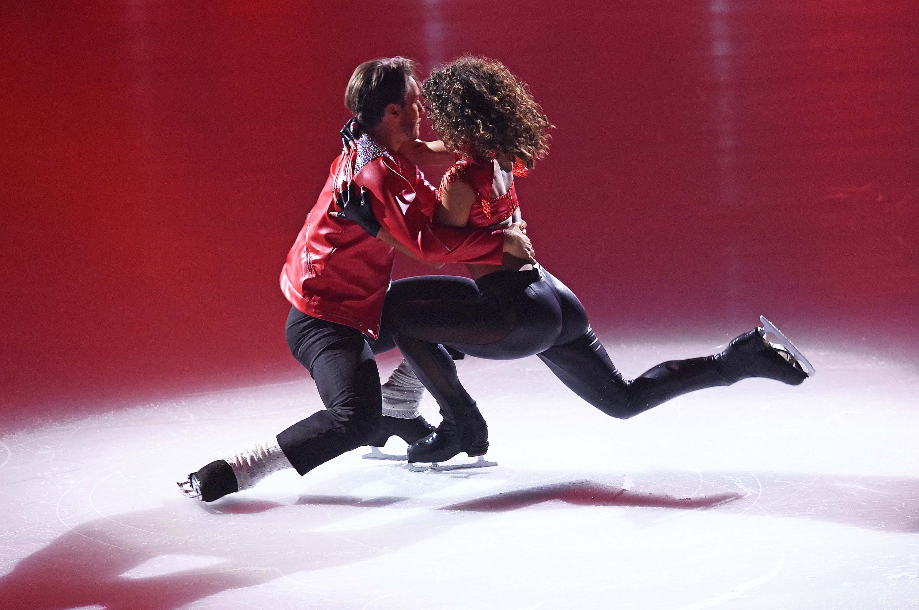 Sarah Lombardi attends Sat.1 Live TV Show 'Dancing on Ice'