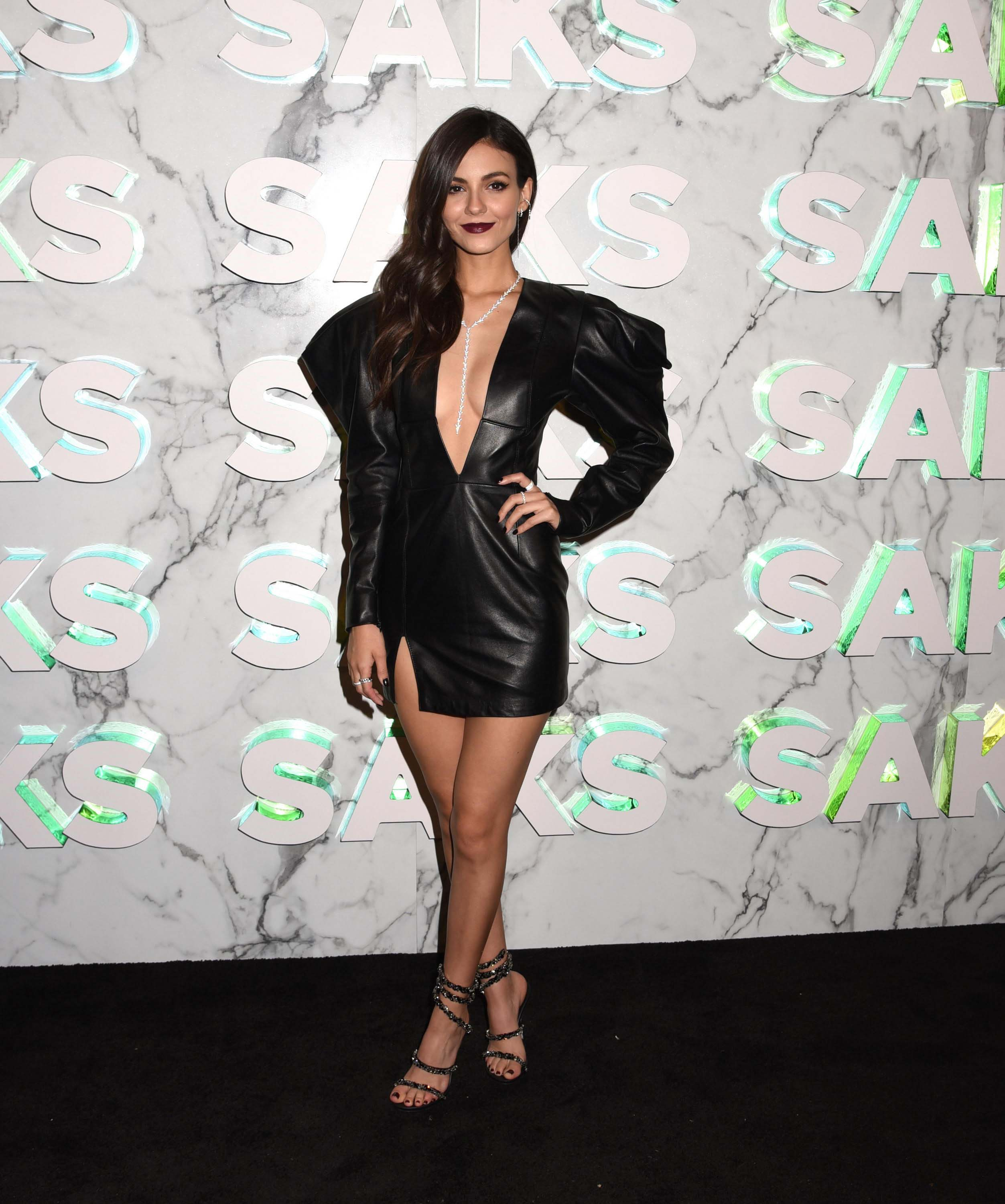 Victoria Justice attends Saks Celebration