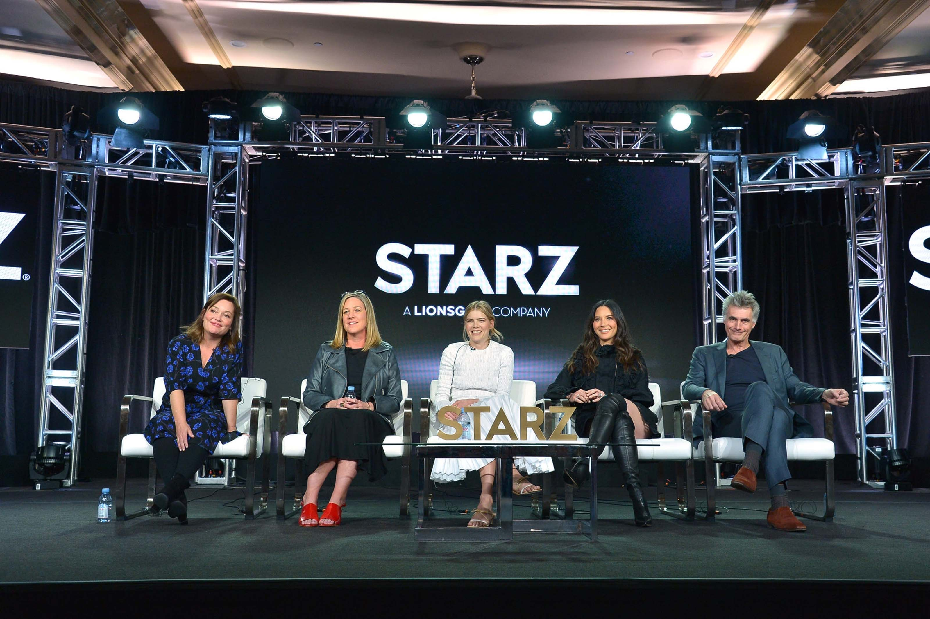 Olivia Munn attends Starz Winter TCA Panel & All-Star After Party