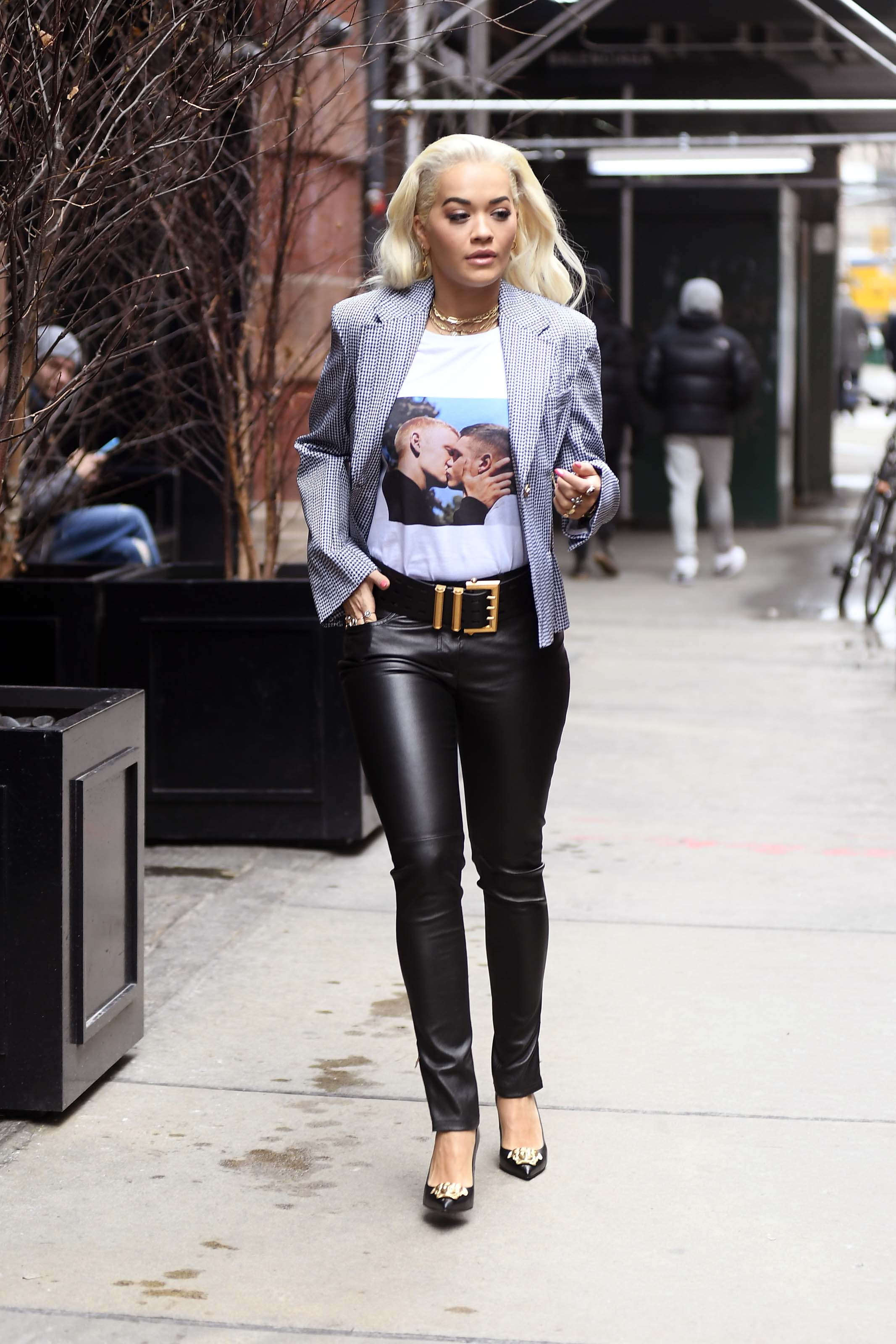 Rita Ora spotted leaving her hotel in New York City