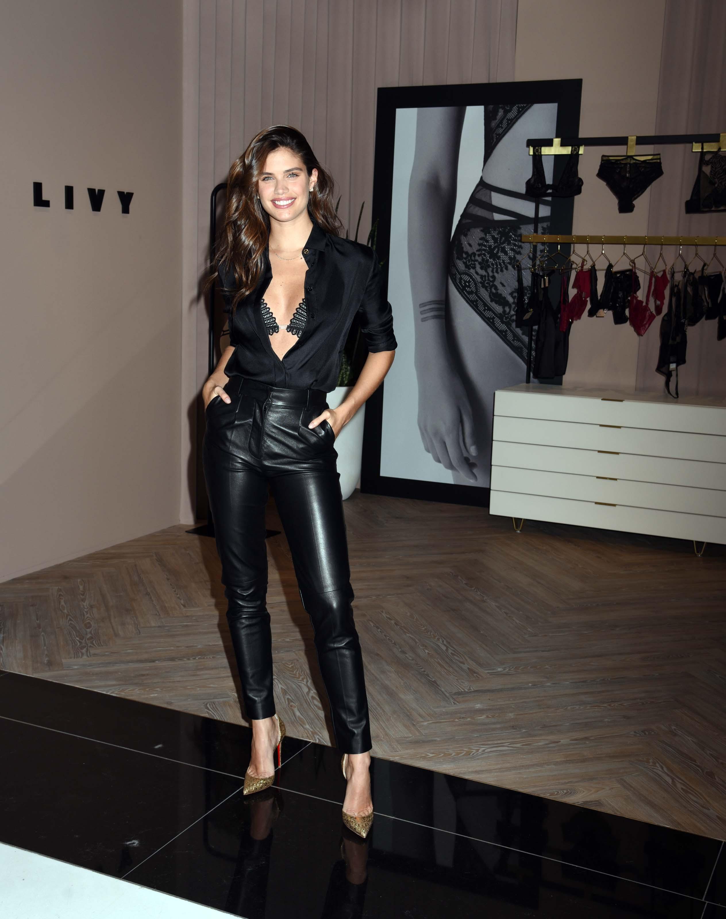 Sara Sampaio attends LIVY lingerie celebration at Victoria's Secret