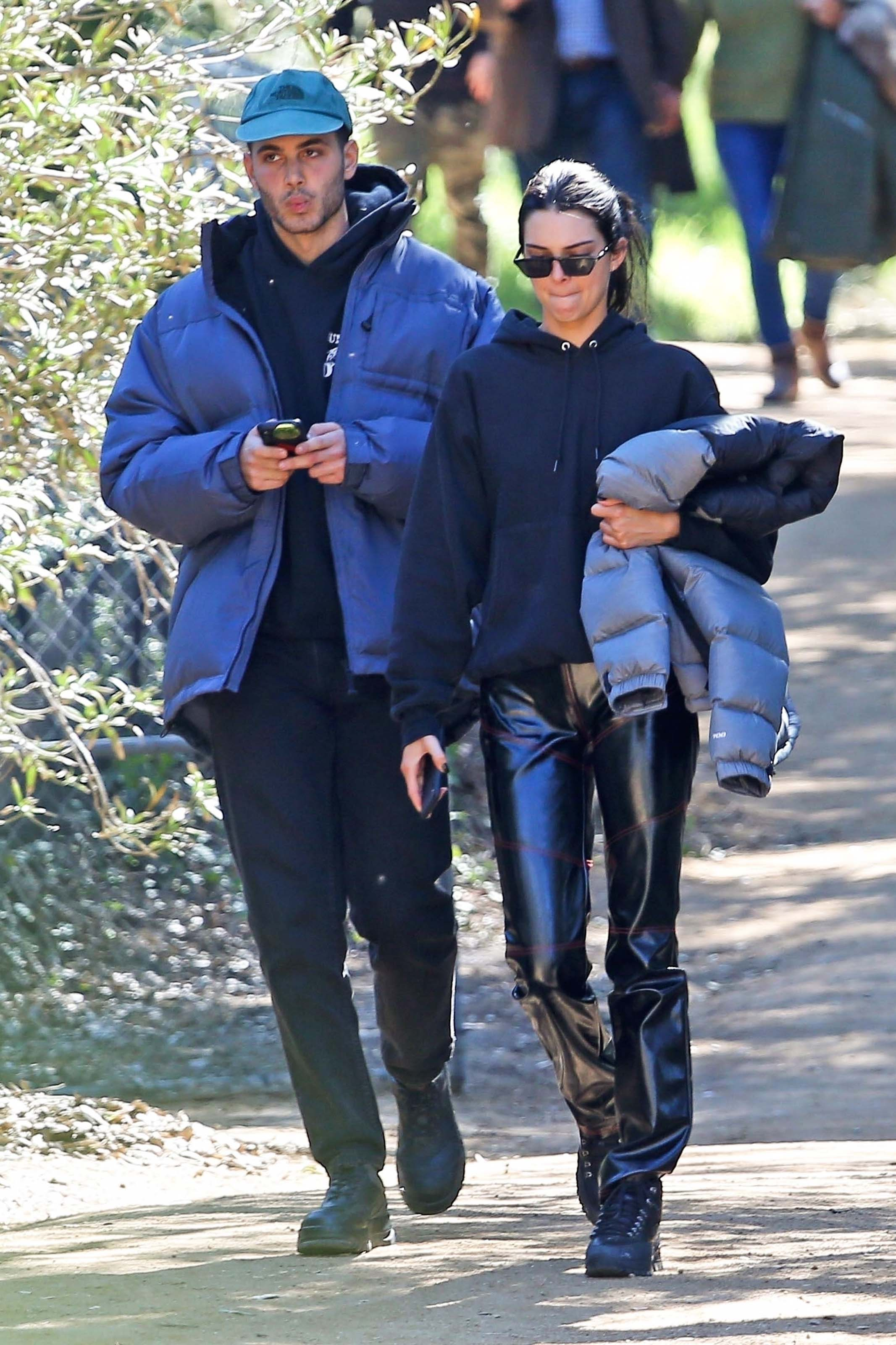 Kendall Jenner heads to church