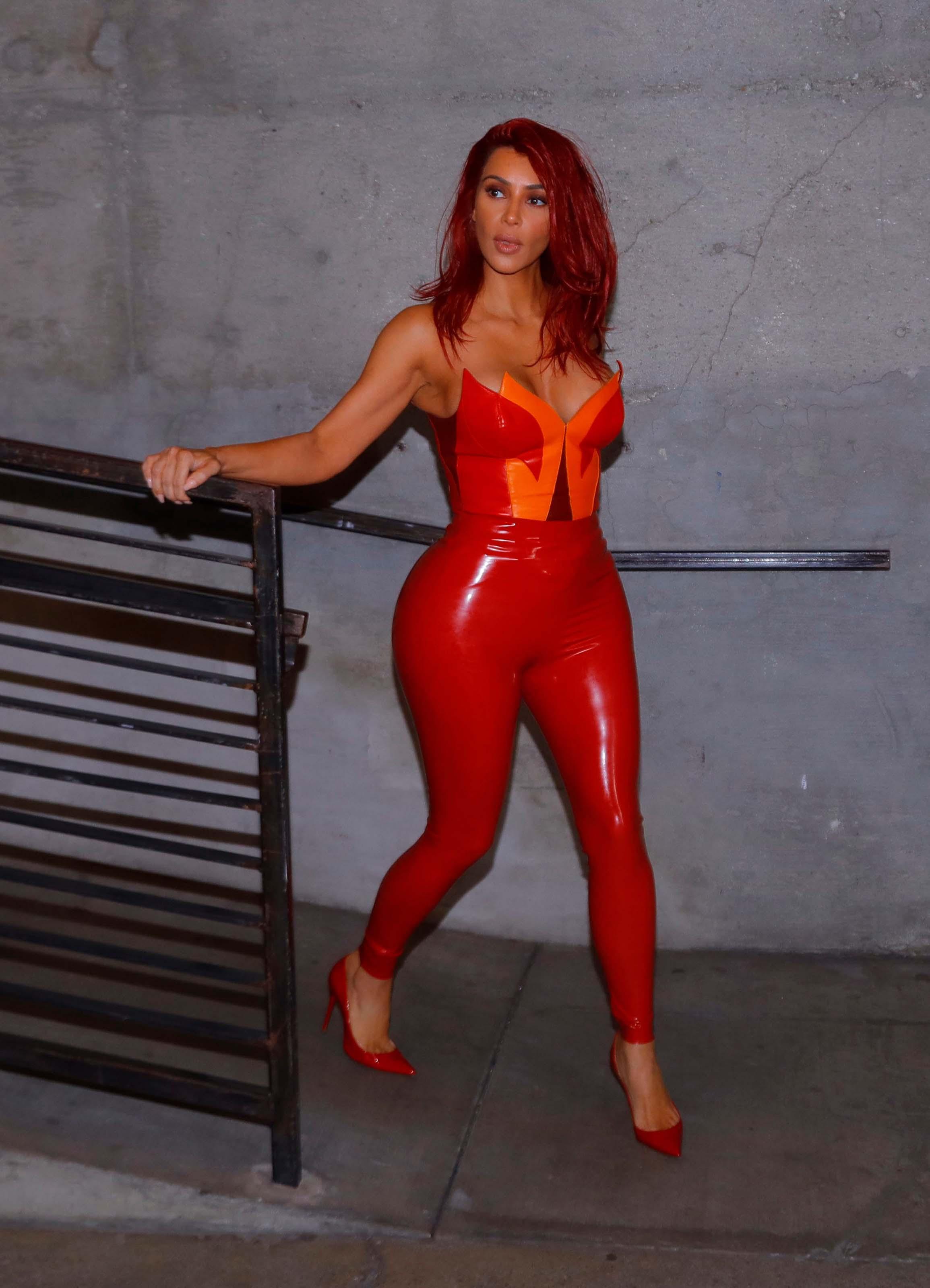 Kim Kardashian photoshoot at Milk Studios
