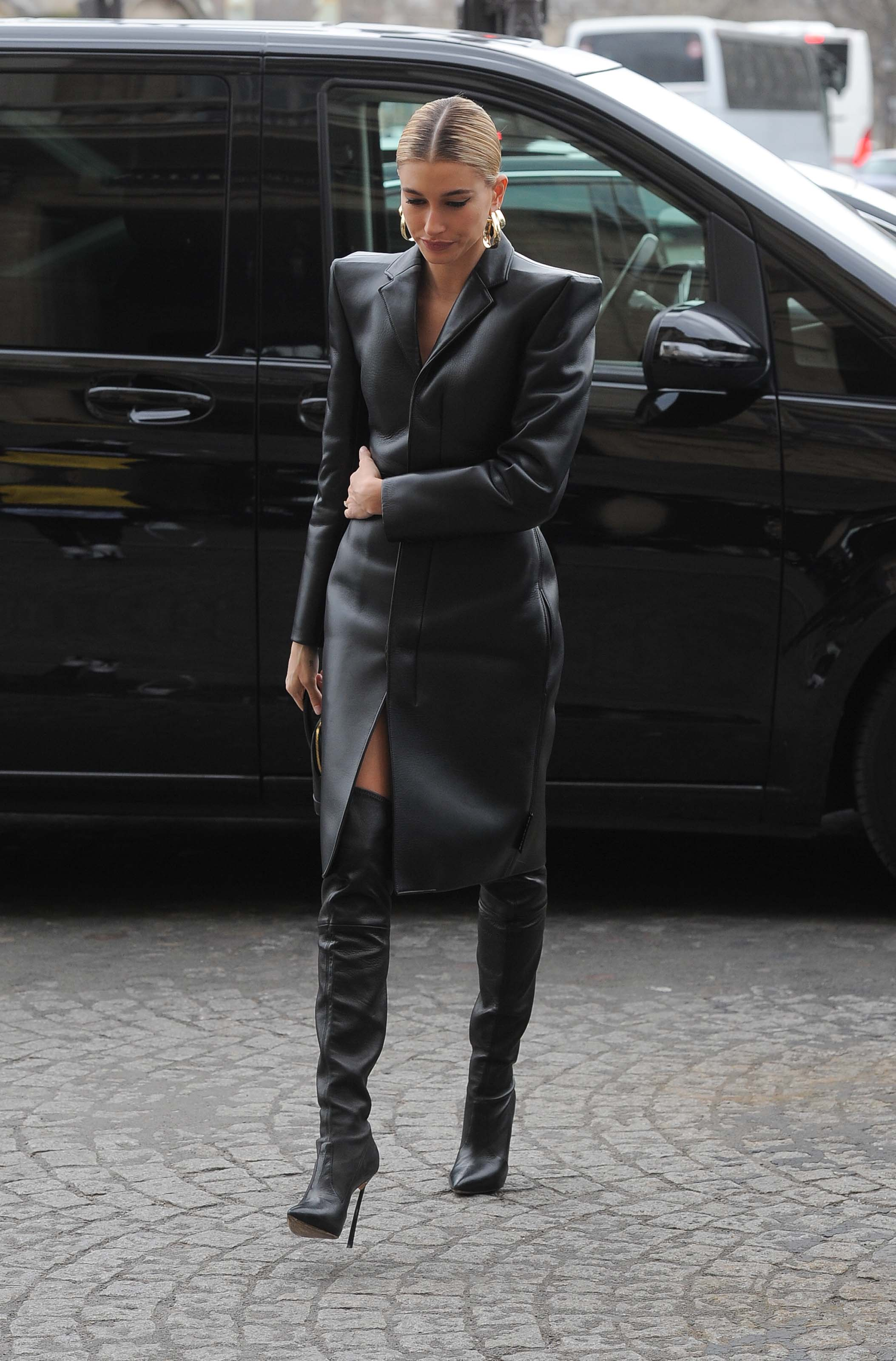 Hailey Baldwin out in Paris