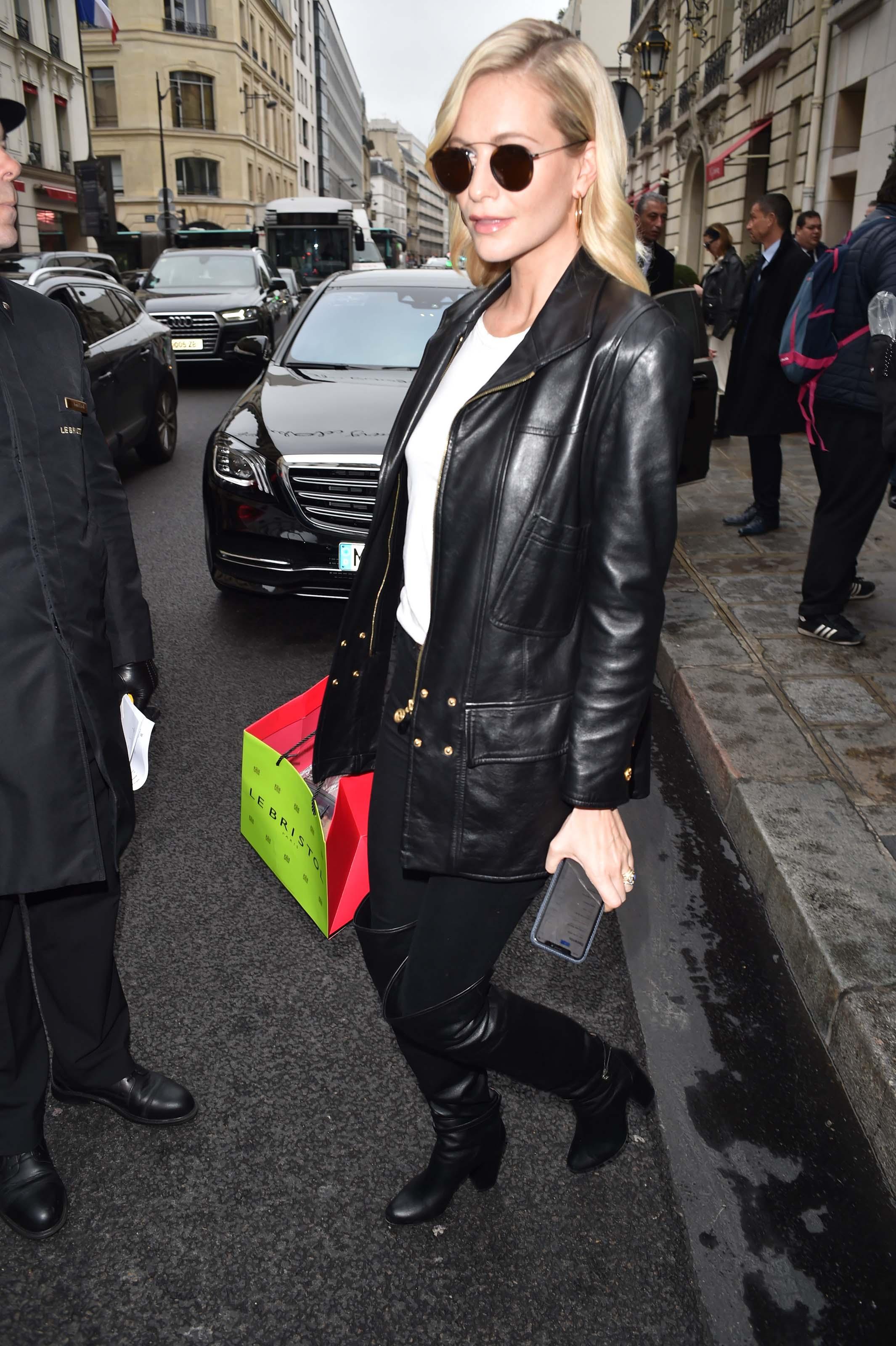 Poppy Delevingne outside The Bristol Hotel