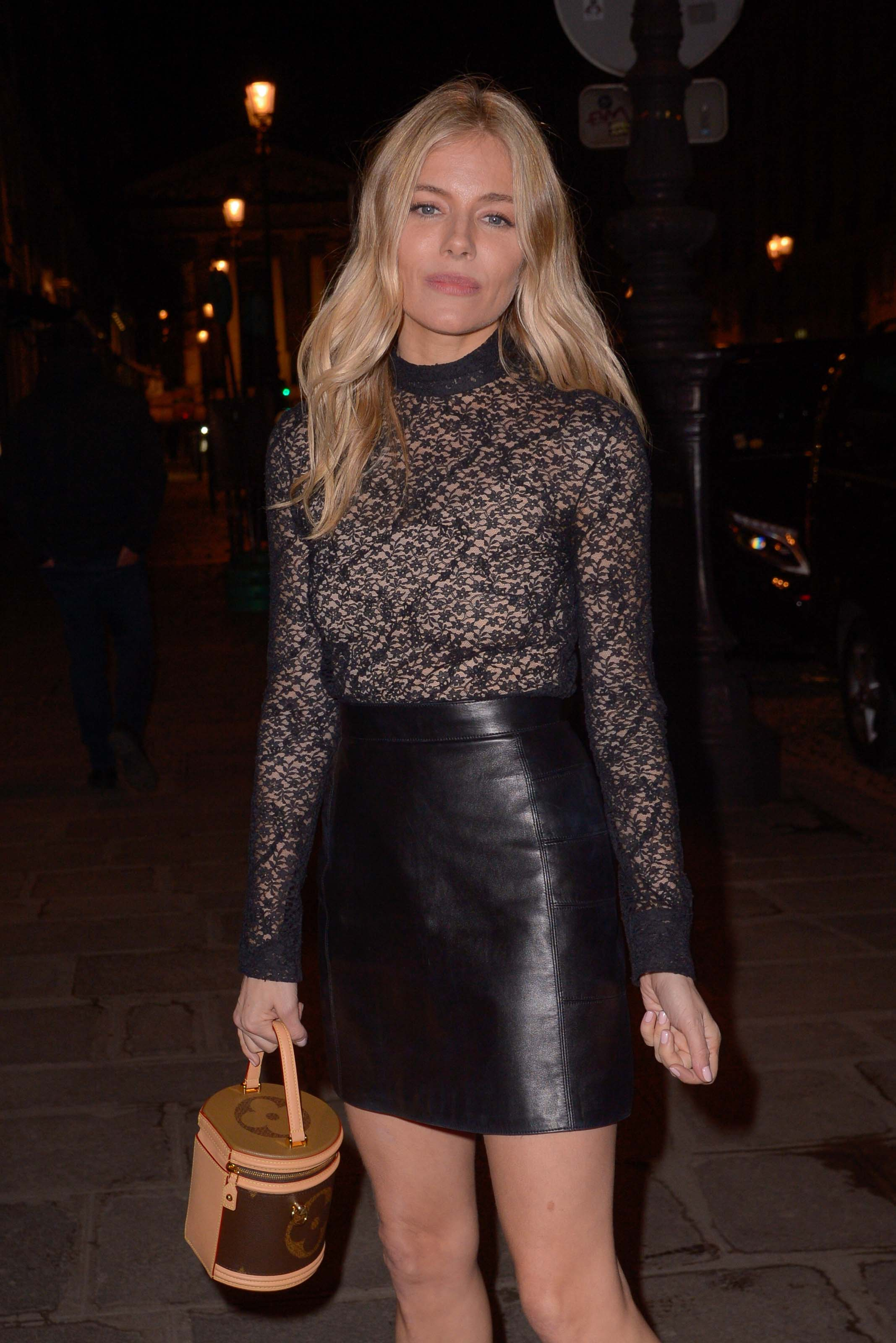 Sienna Miller attends Louis Vuitton show