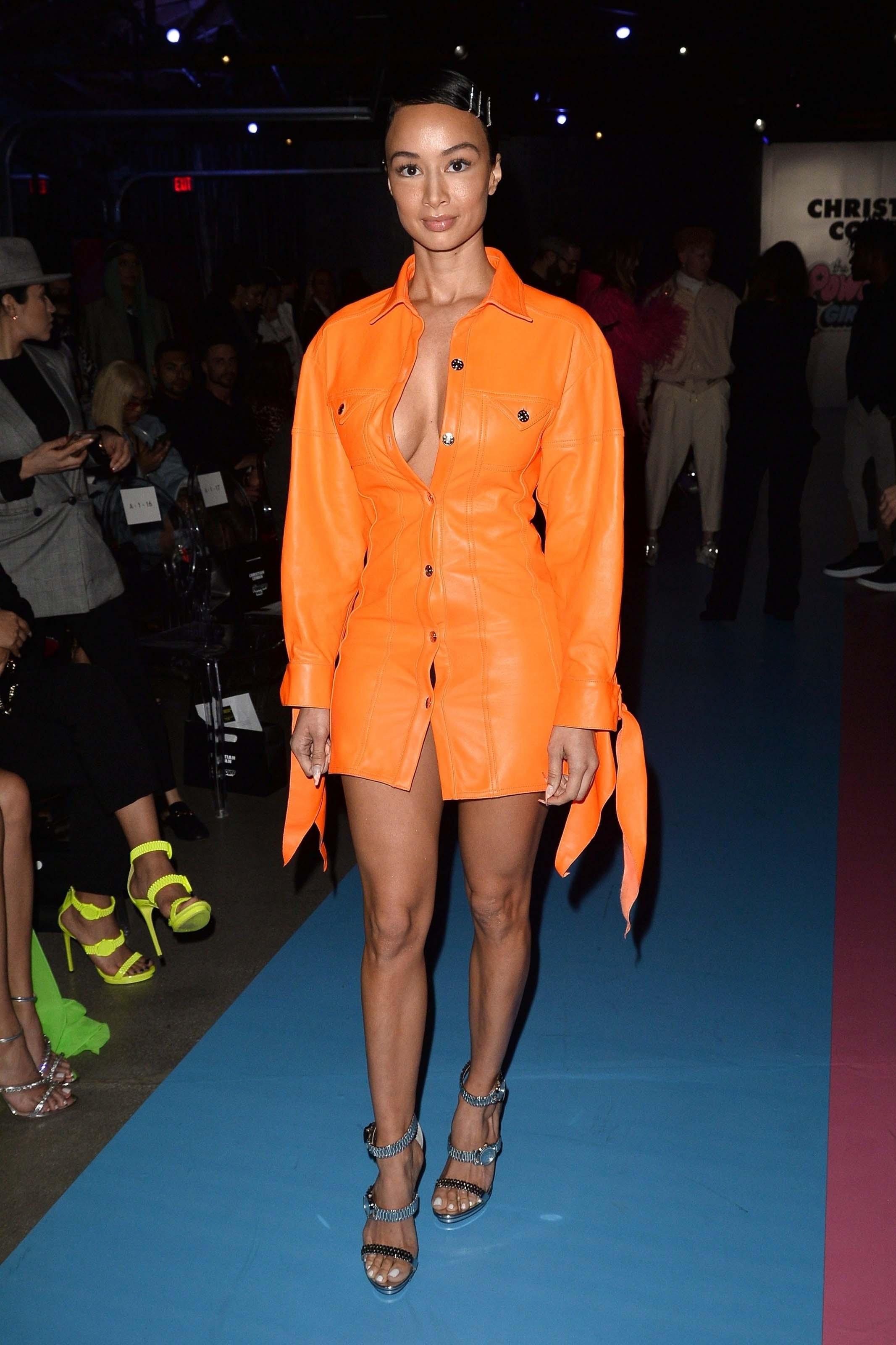 Draya Michele attends the Christian Cowan PowerPuff Girls Fashion Show