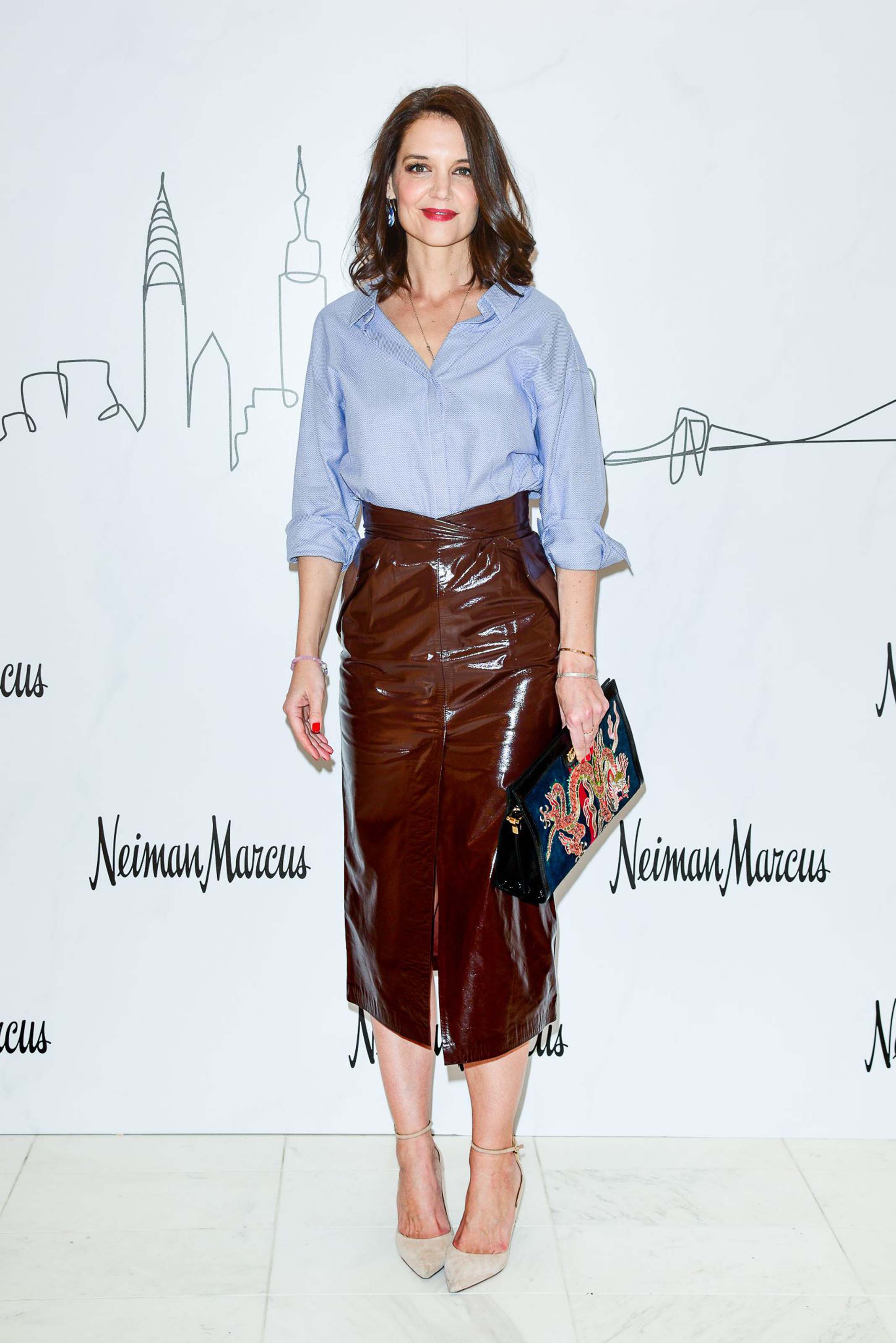 Katie Holmes attends Neiman Marcus Hudson Yards Party