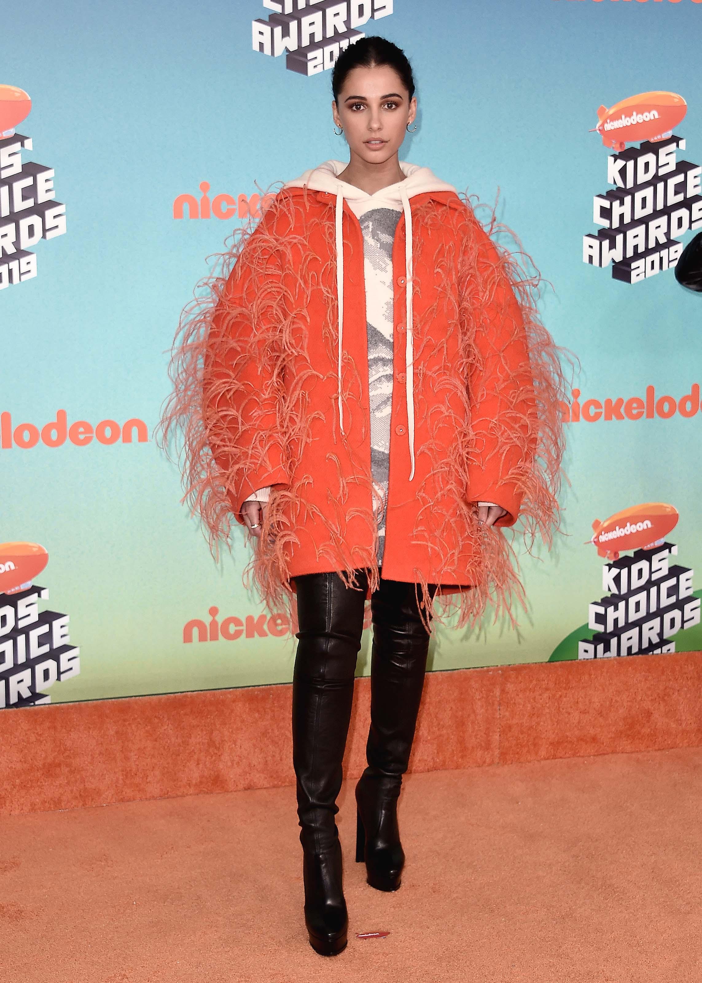 Naomi Scott attending Nickelodeon Kids' Choice Awards